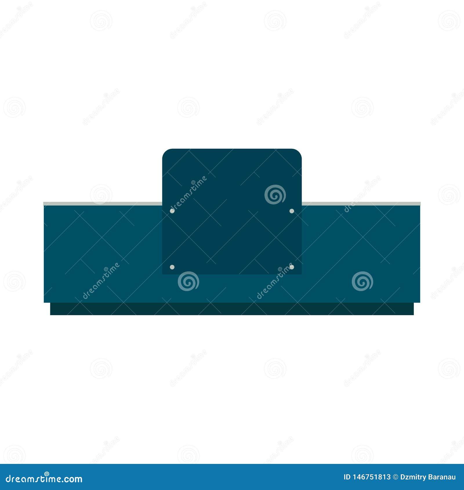 总台正面图传染媒介象 旅馆标志办公室公司大厅服务家具 企业内部设备