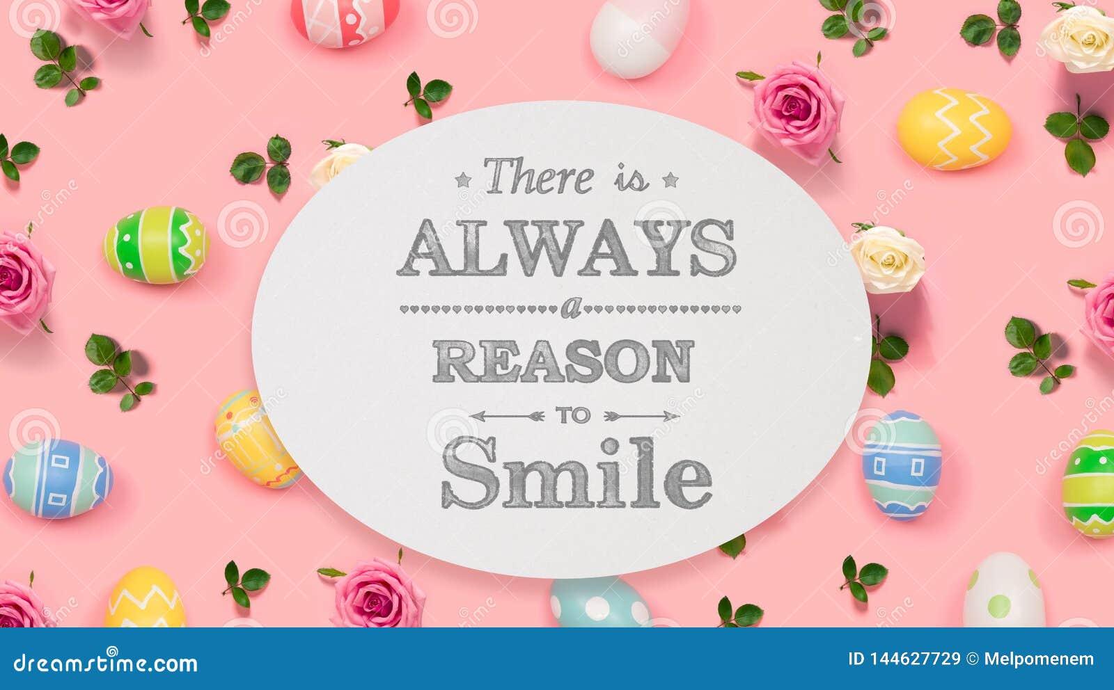 总是有原因微笑用复活节彩蛋