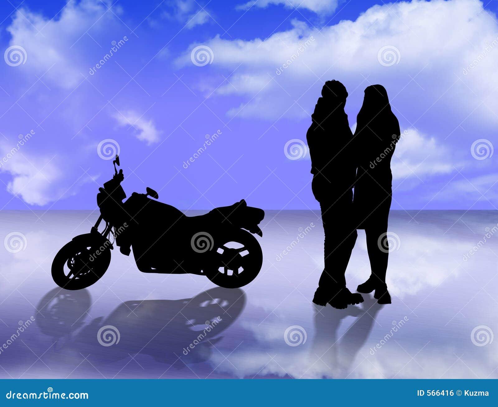 恋人摩托车