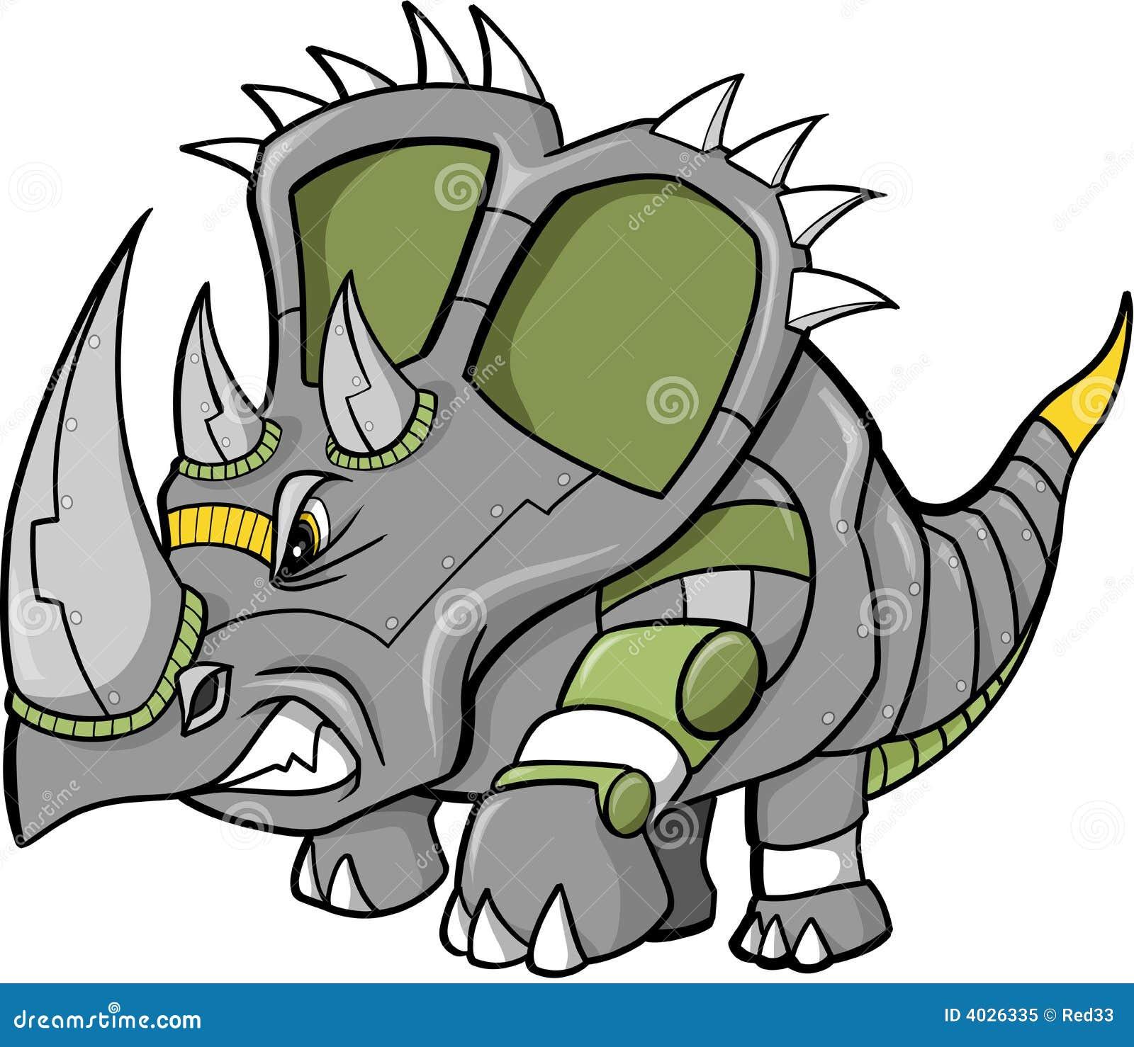 恐龍機器人向量圖片