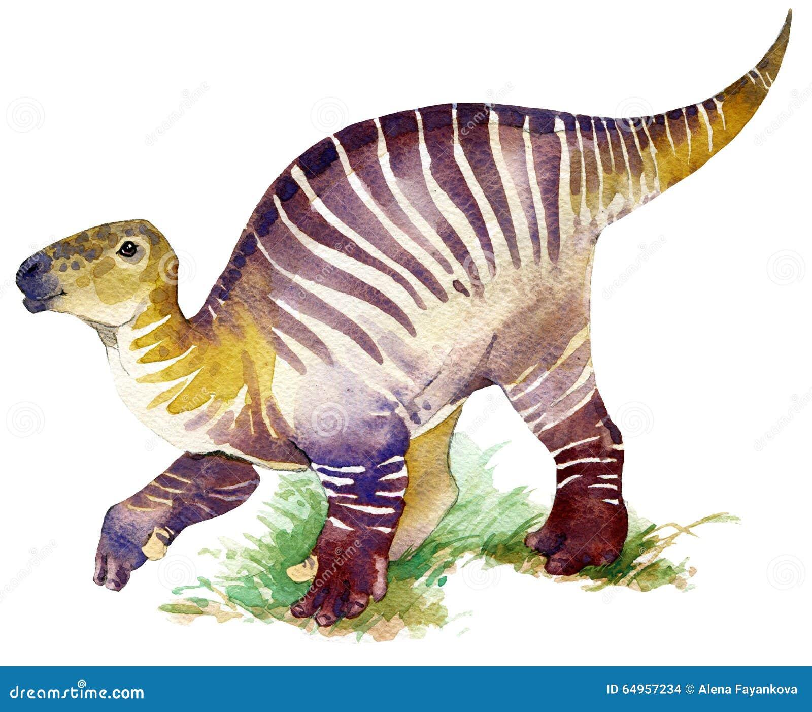 恐龙 恐龙水彩图画 恐龙例证