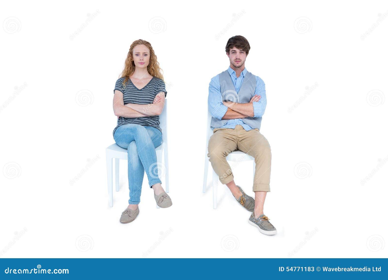 恼怒的夫妇不谈话在论据以后