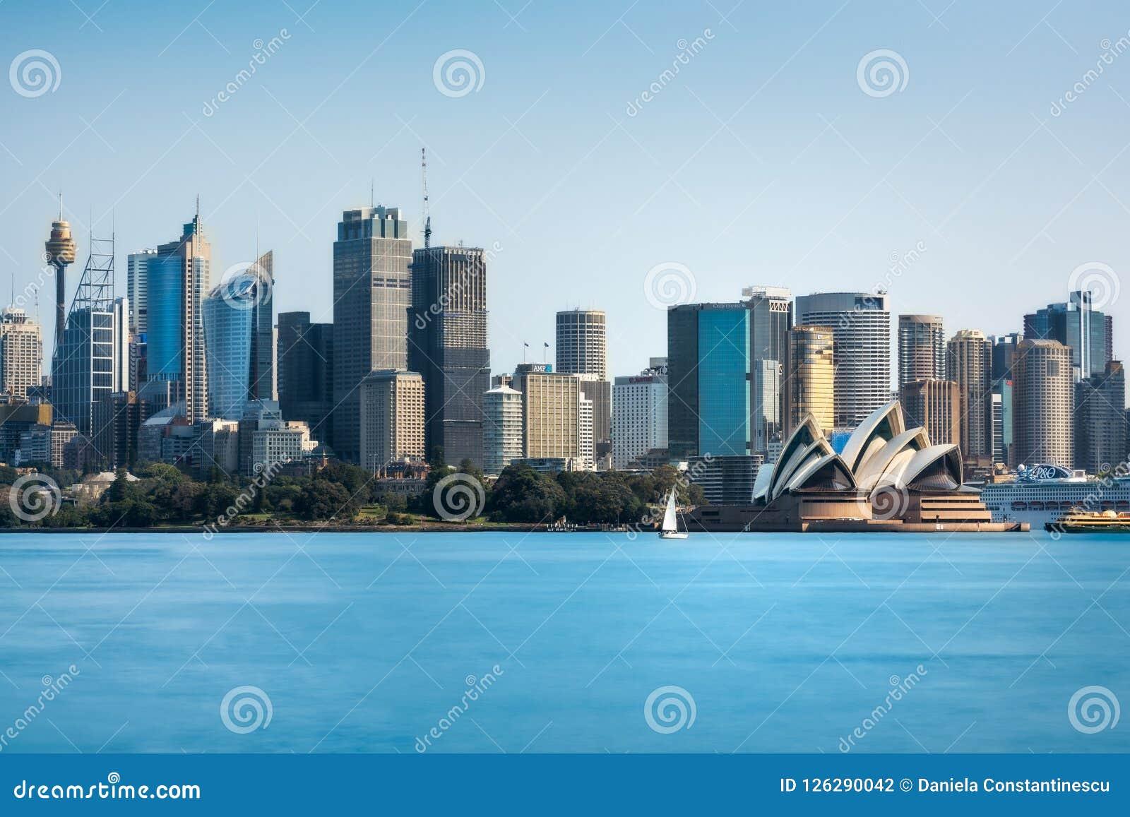 悉尼地平线-从Cremorne点的白天看法