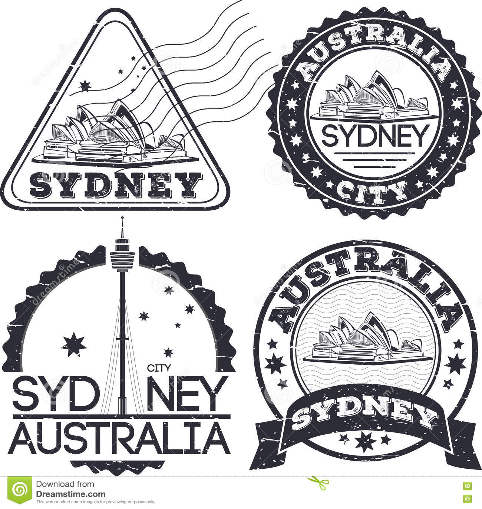 悉尼市邮票