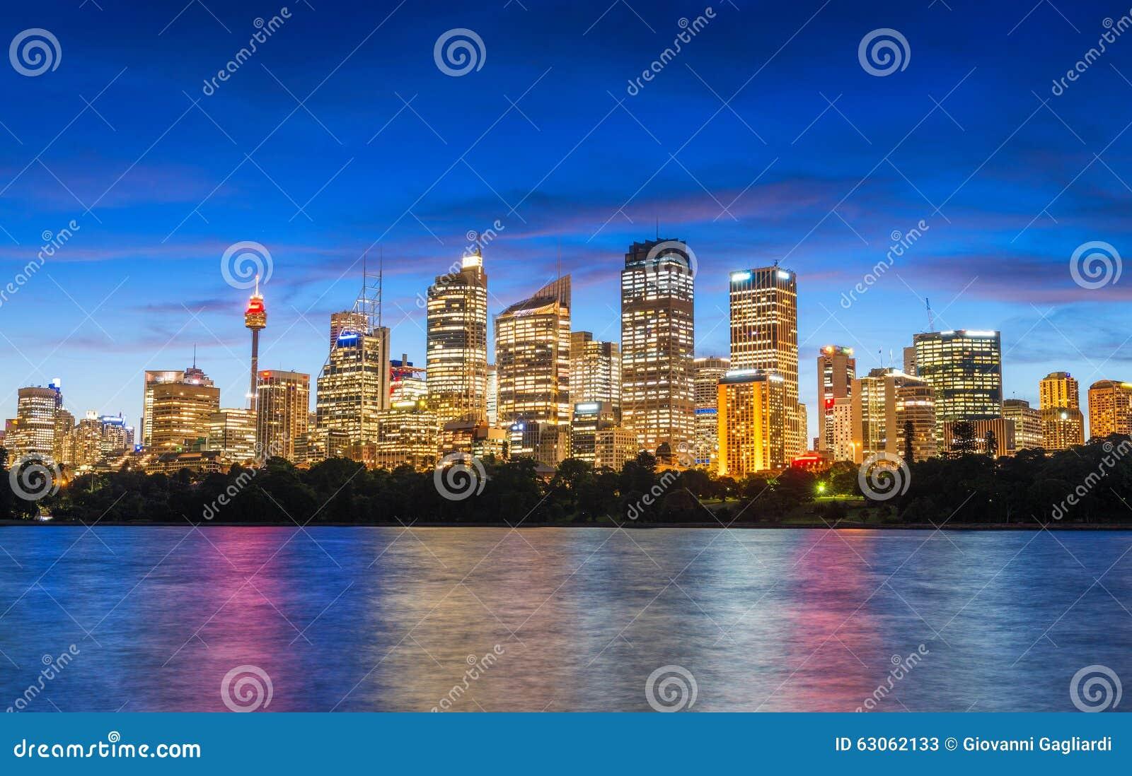 悉尼,澳大利亚美妙的夜地平线