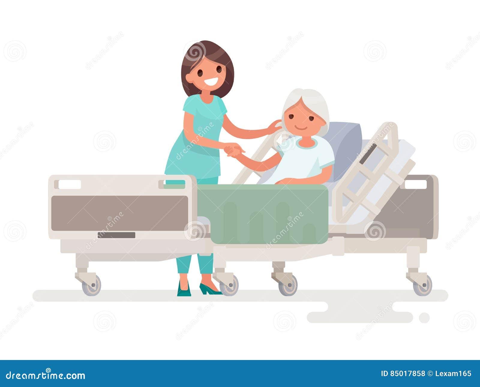 患者的住院治疗 护士照料病的el