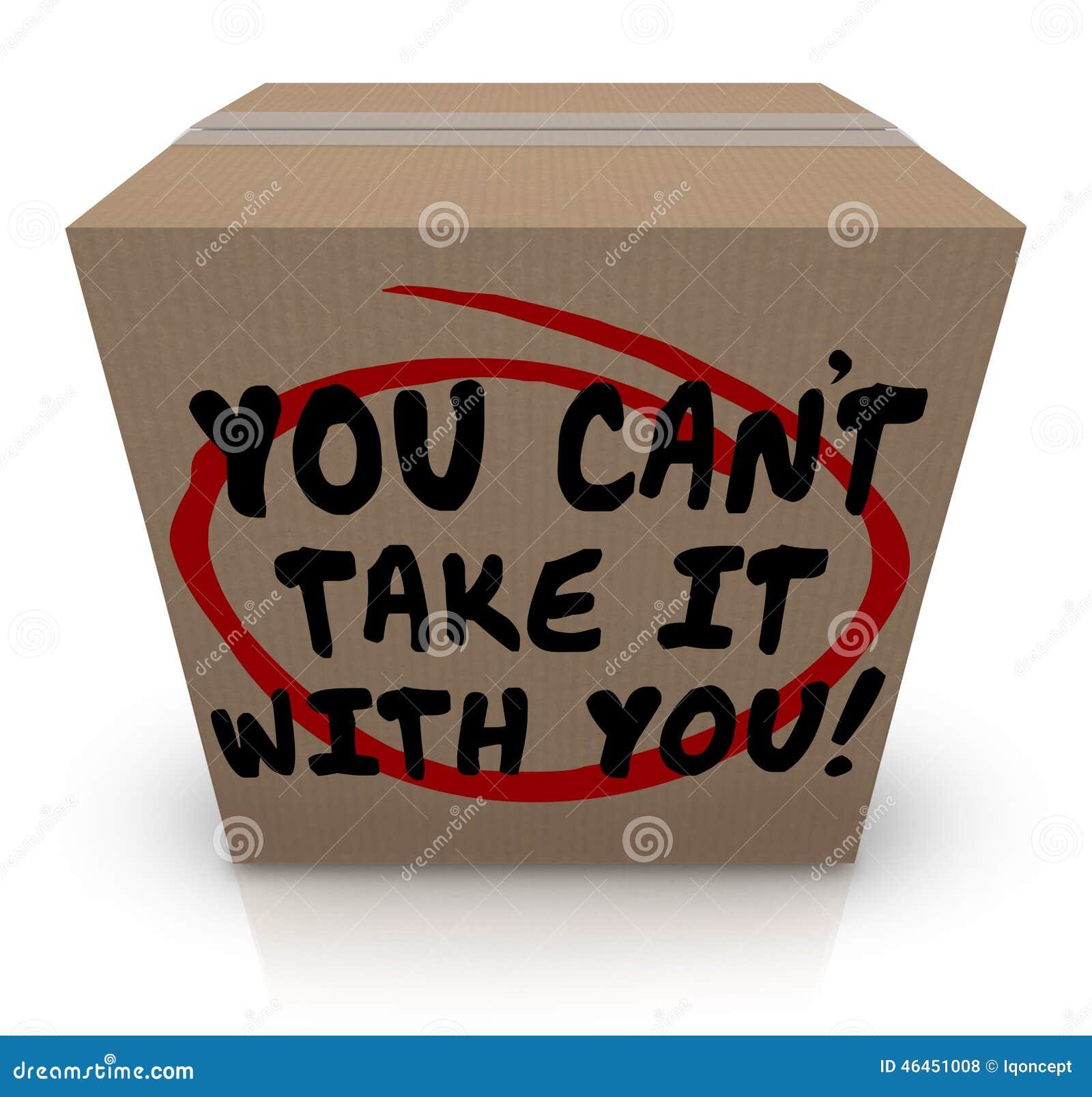 您伪善言辞采取它与您词份额捐赠的纸板箱