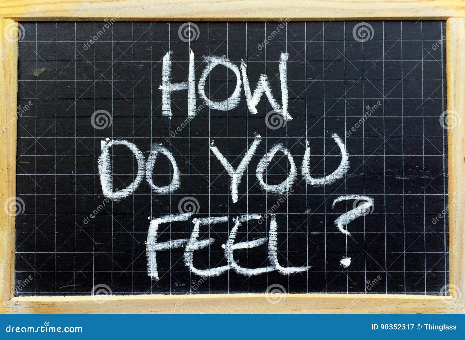 您怎么感觉?