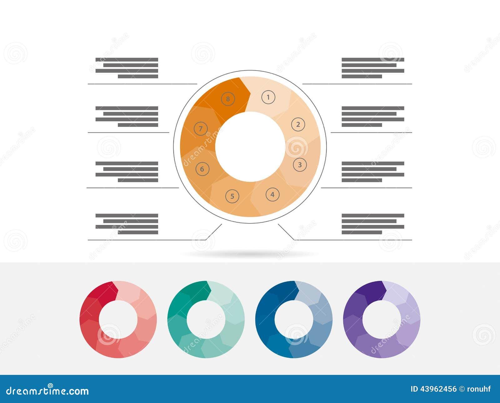 您的企业介绍的平的几何图模板与正文和象