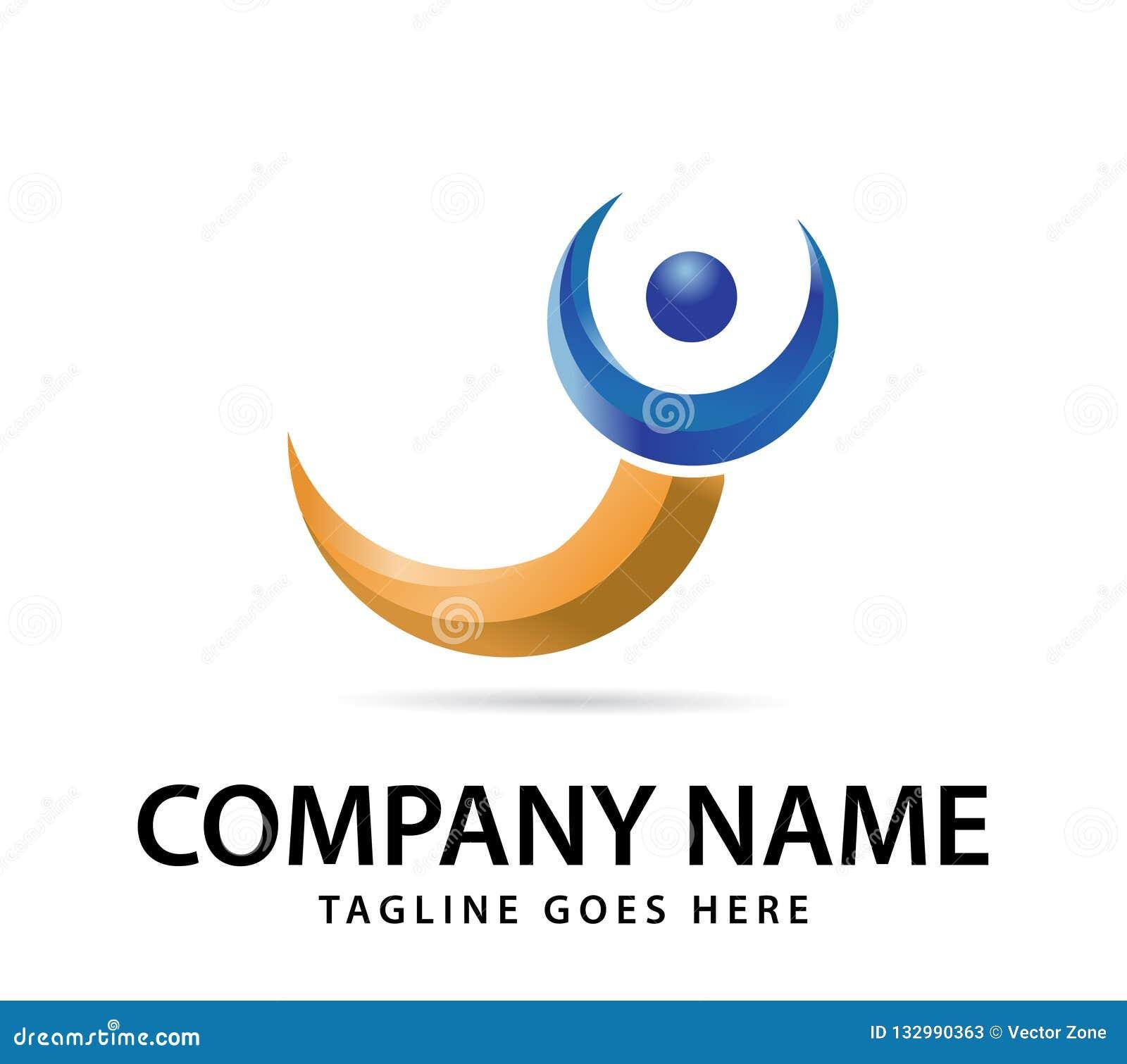 您的公司商标的传染媒介设计,抽象五颜六色的象 现代3d略写法,企业公司传染媒介