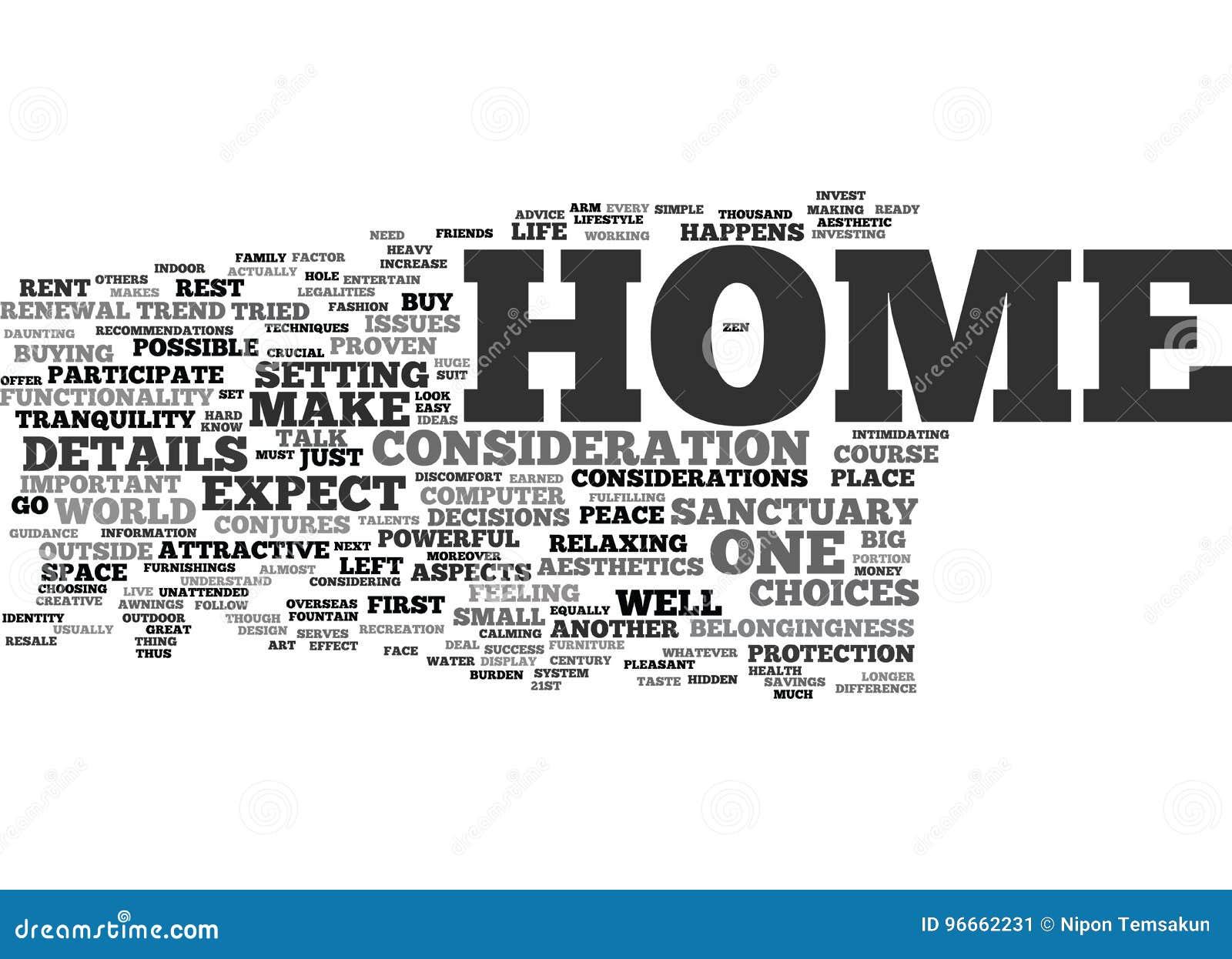 您的家是您的圣所文本背景词云彩概念