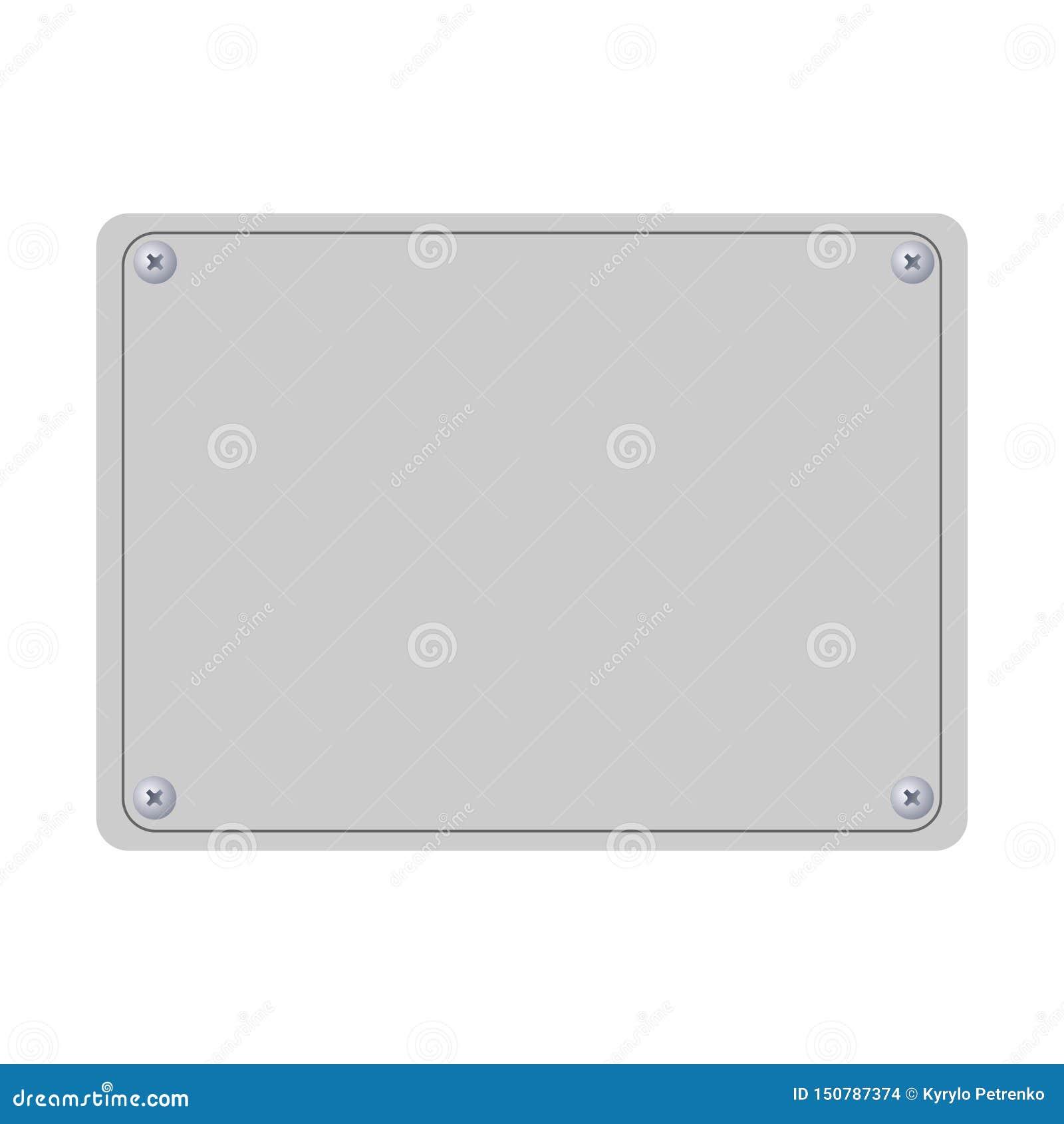 您的文本白色背景的空的板材