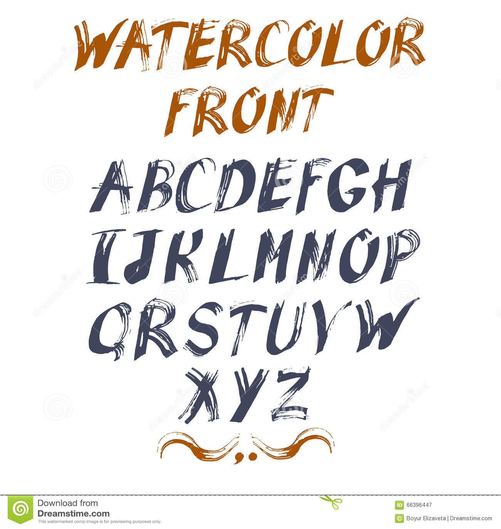 您的设计的传染媒介字母表 拉长的现有量信函