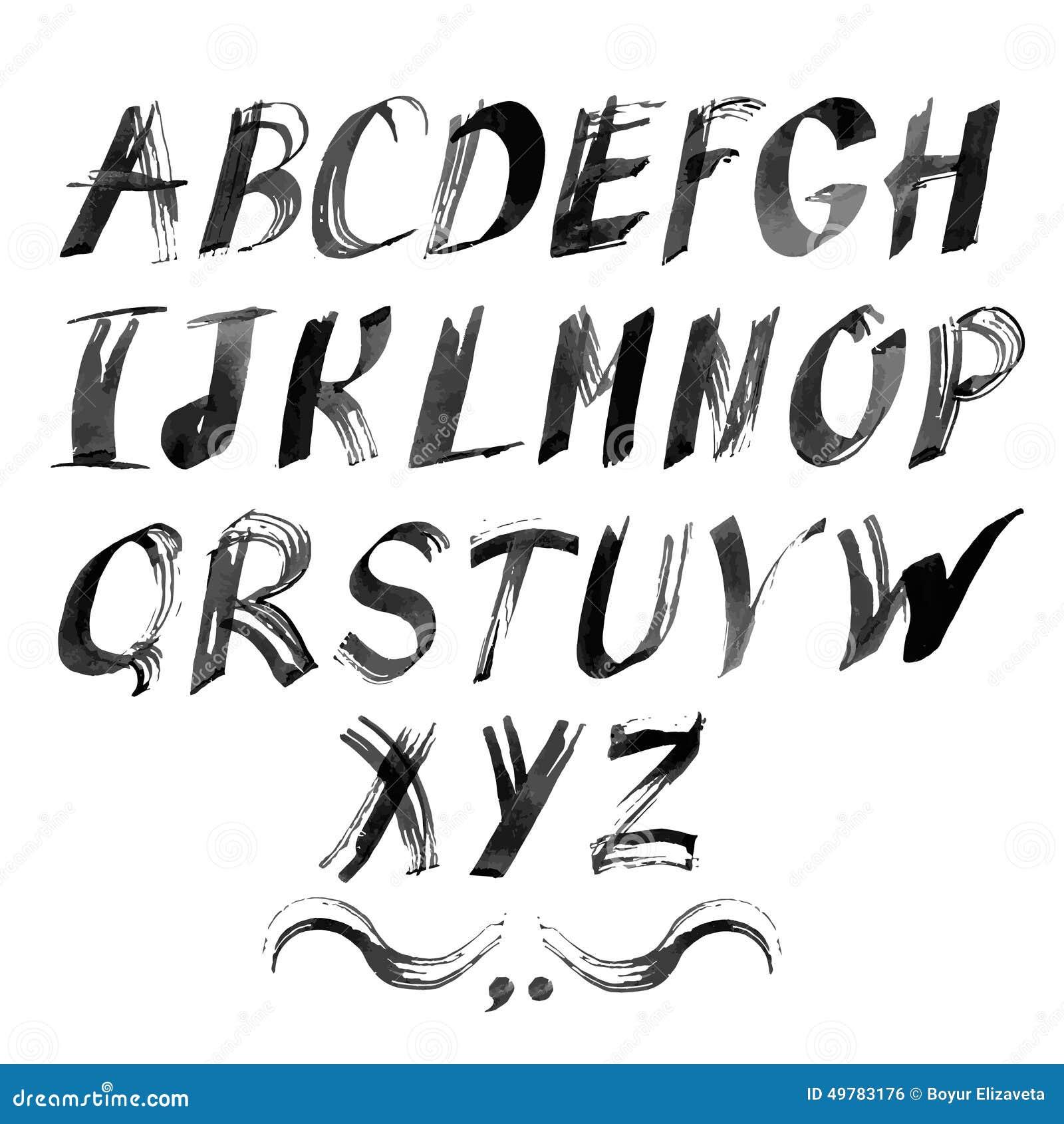 您的设计的传染媒介字母表 拉长的现有量