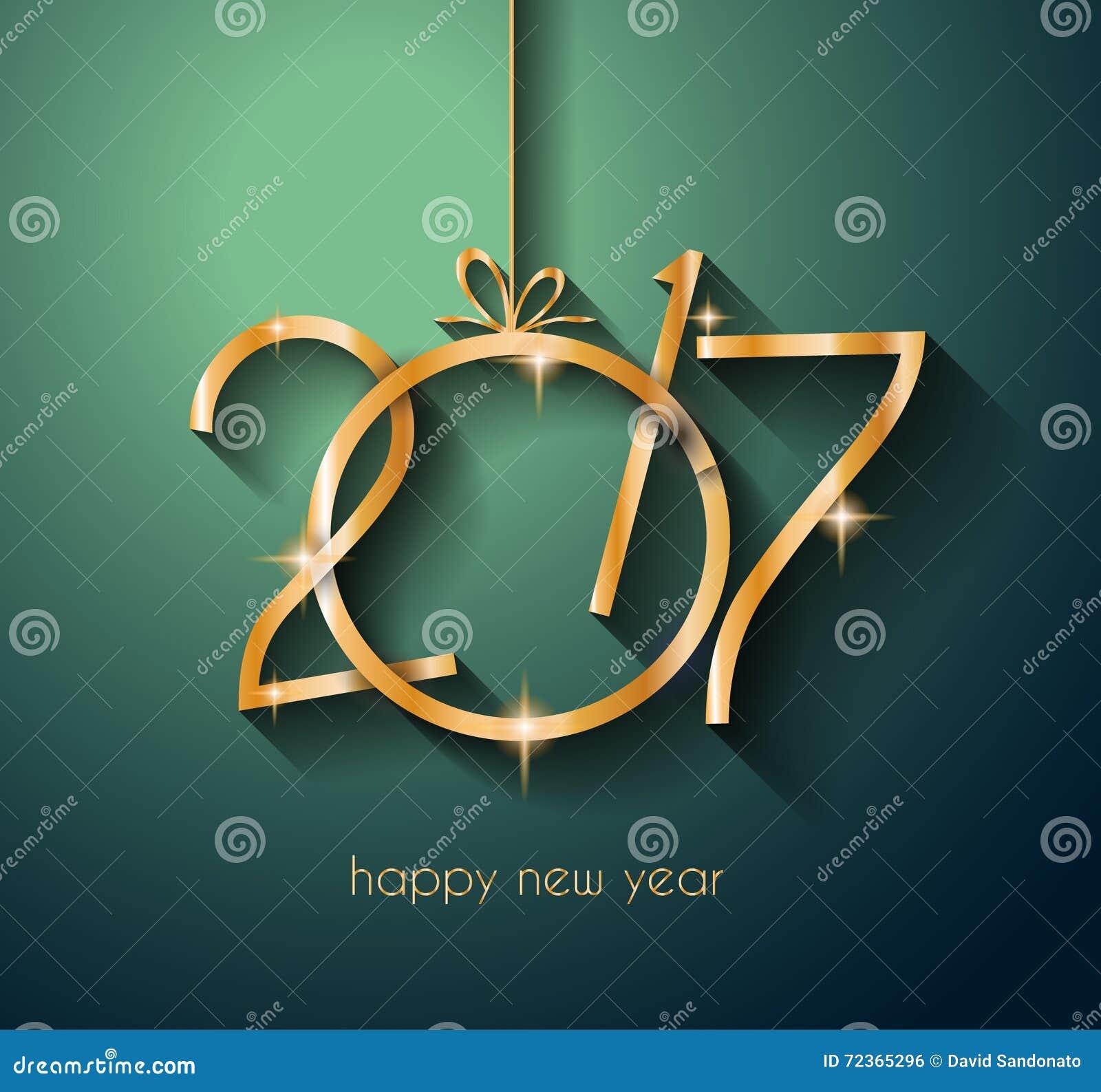 2017年您的飞行物和贺卡的新年快乐背景