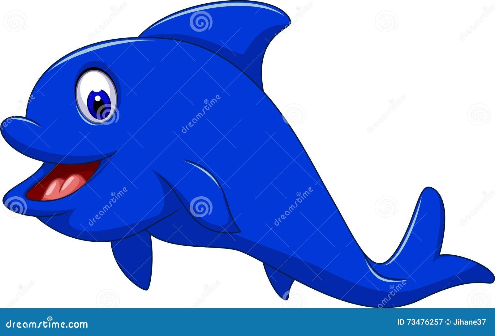 您的滑稽的海豚动画片设计
