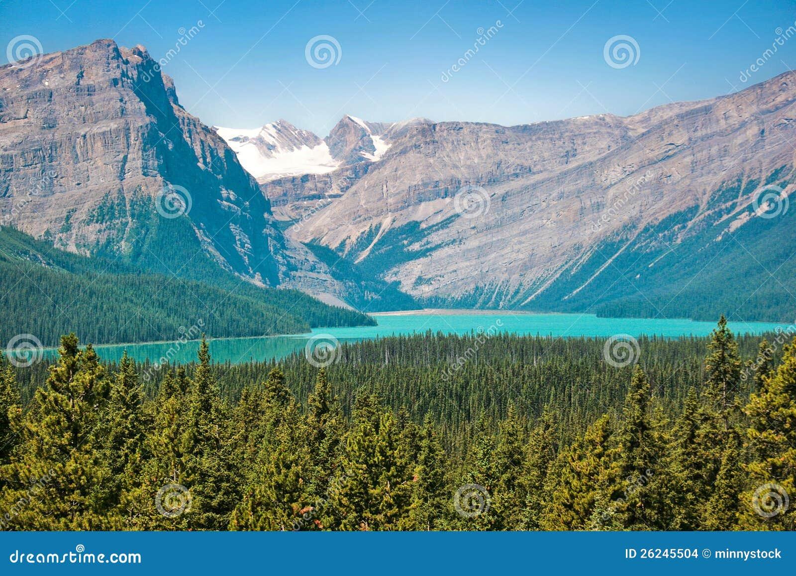 惊人的横向在亚伯大,加拿大