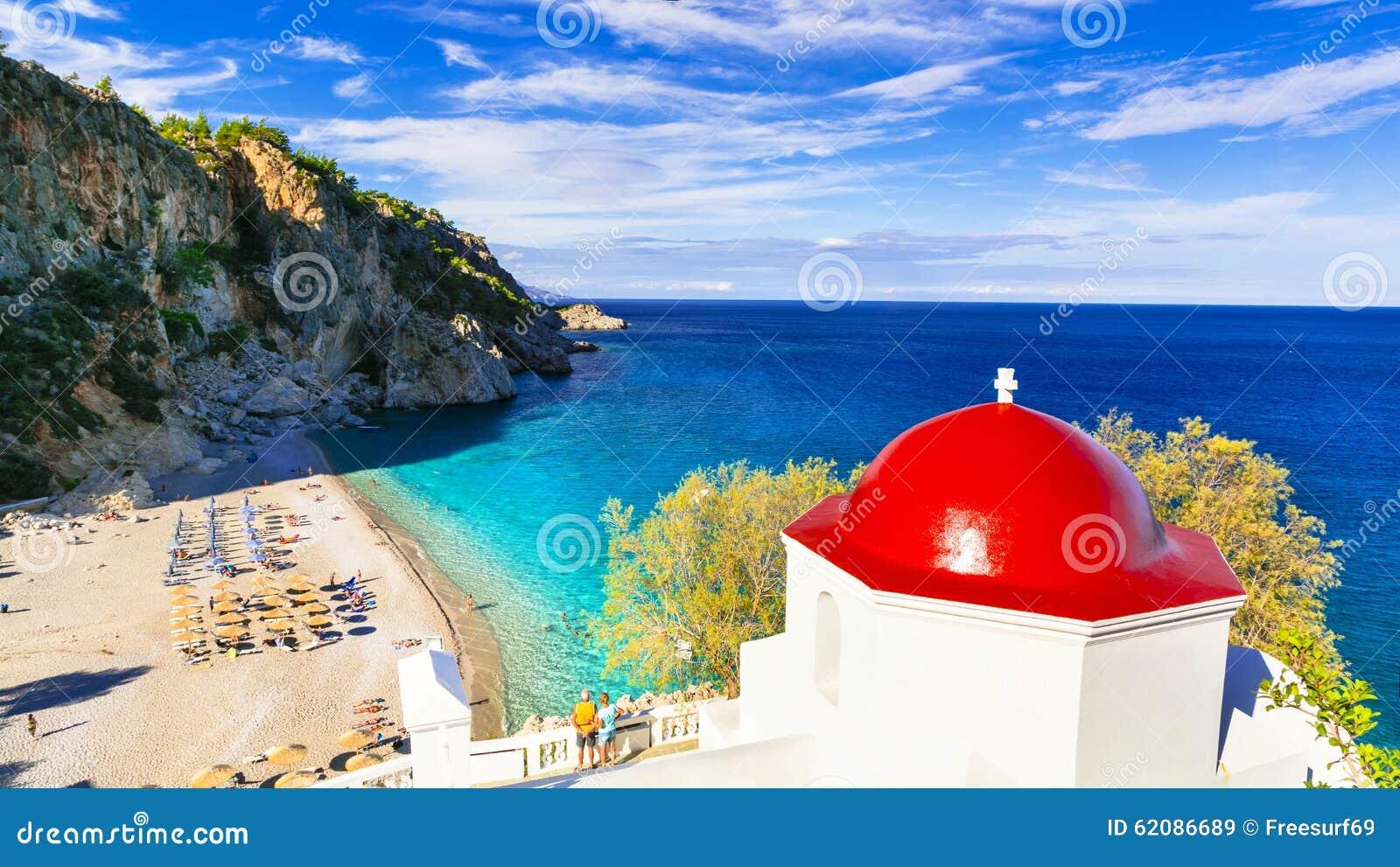 惊人的海滩希腊海岛 喀帕苏斯岛