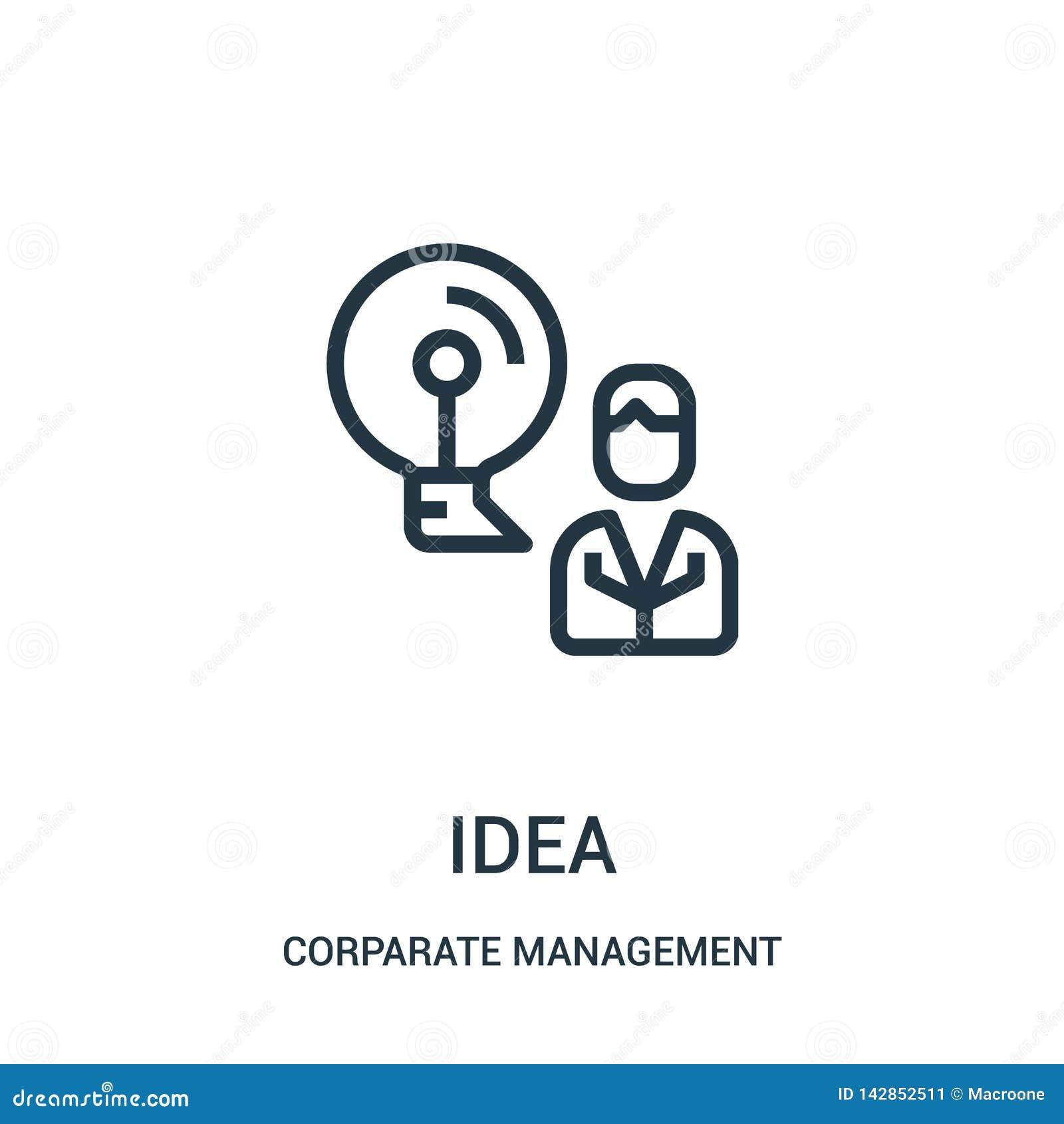 想法从公司管理汇集的象传染媒介 稀薄的线想法概述象传染媒介例证 线性标志为使用