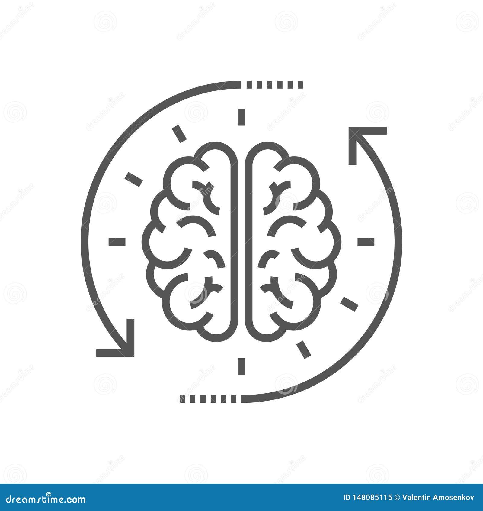 想法的过程的概念,激发灵感,好想法,记录脑部活动,洞察 平的线传染媒介象例证