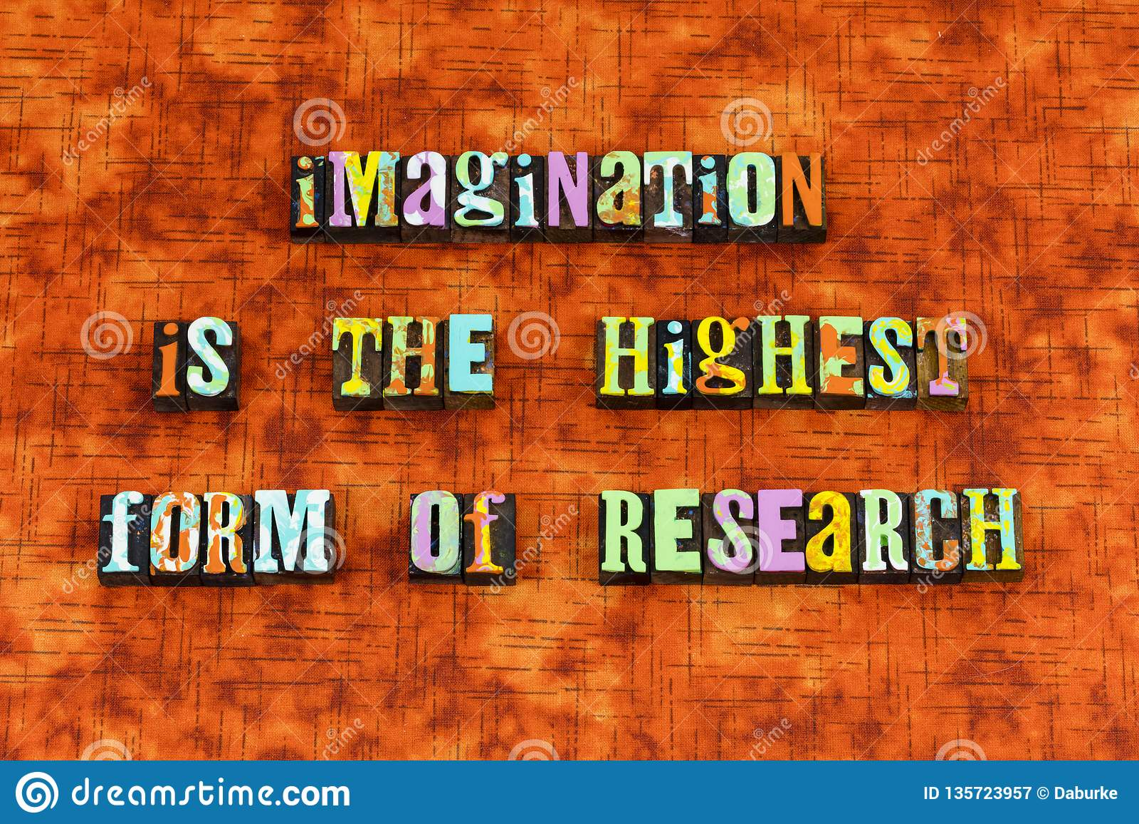 想象力相信达到创造启发