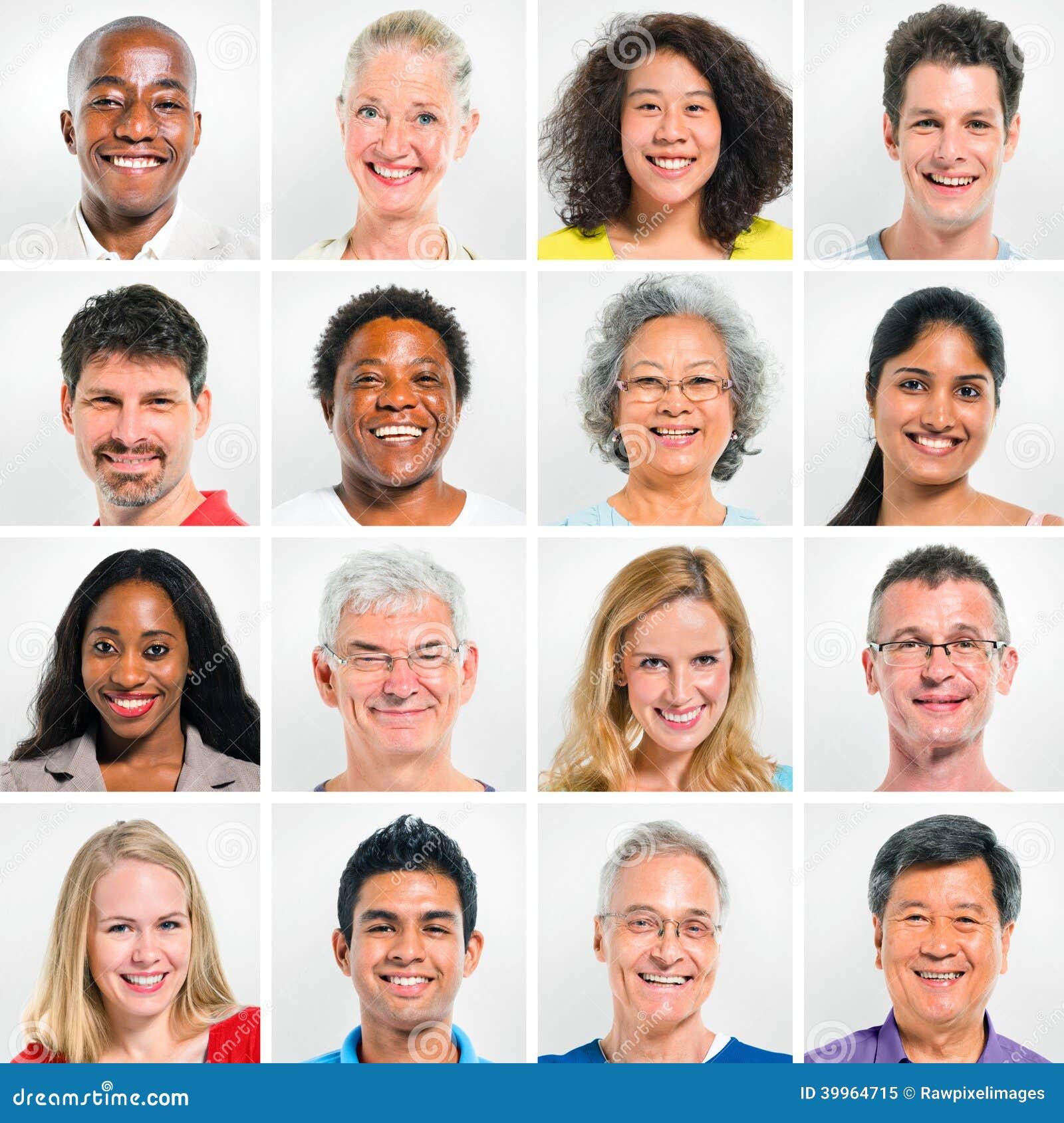 愉快的不同种族的人民的汇集