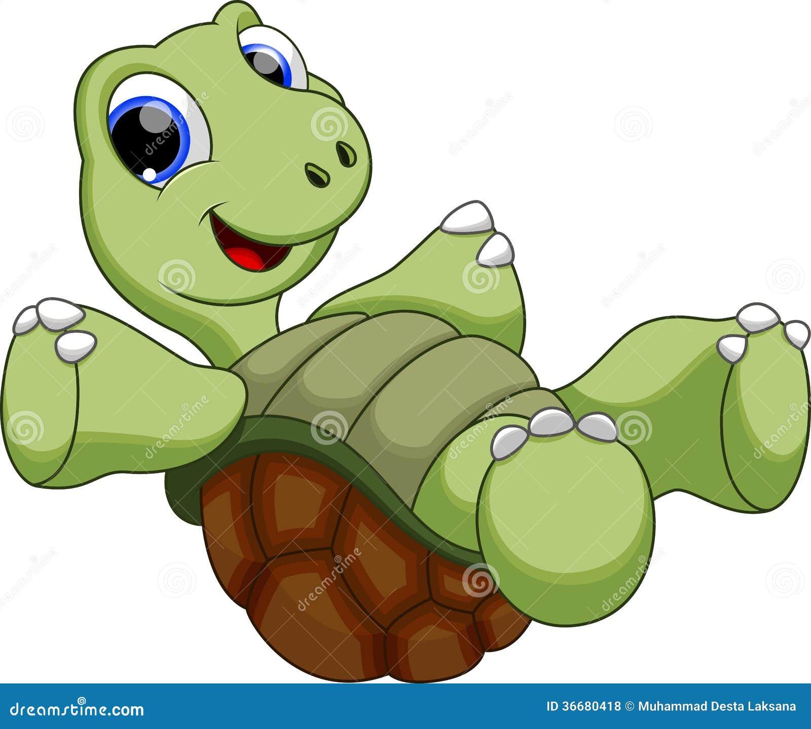 愉快的乌龟catoon