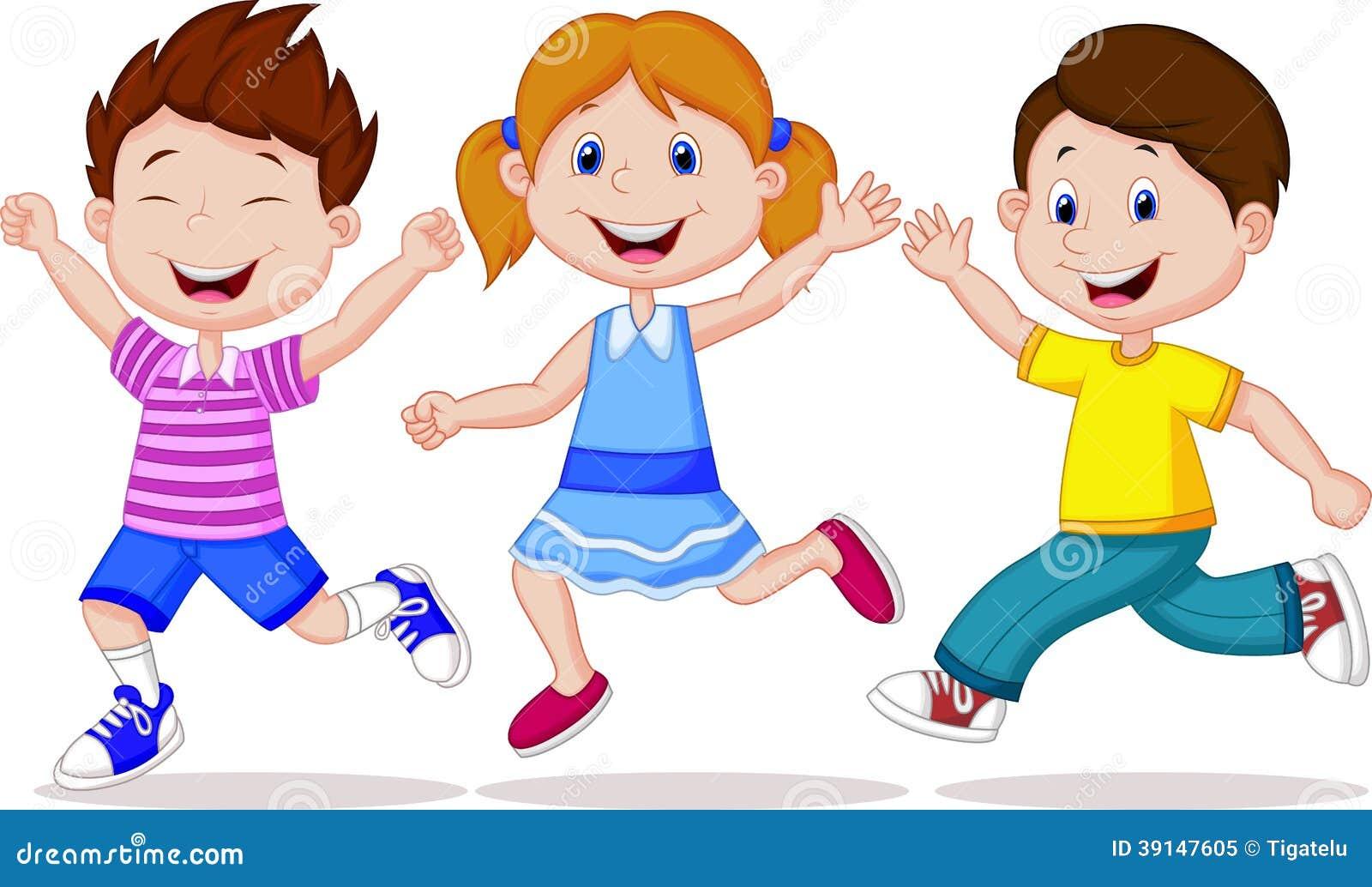 愉快的儿童动画片赛跑