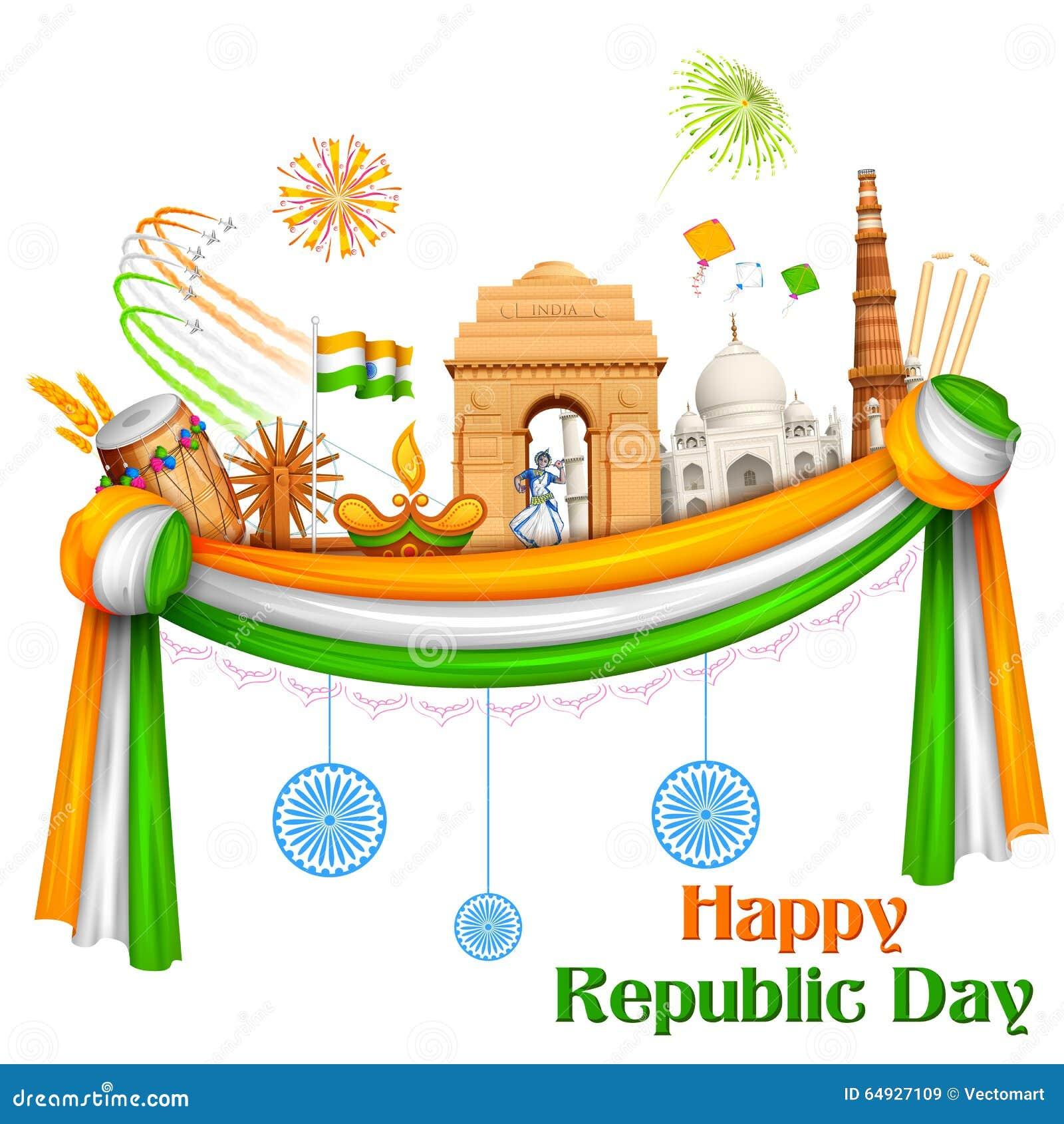 愉快的共和国天印度背景