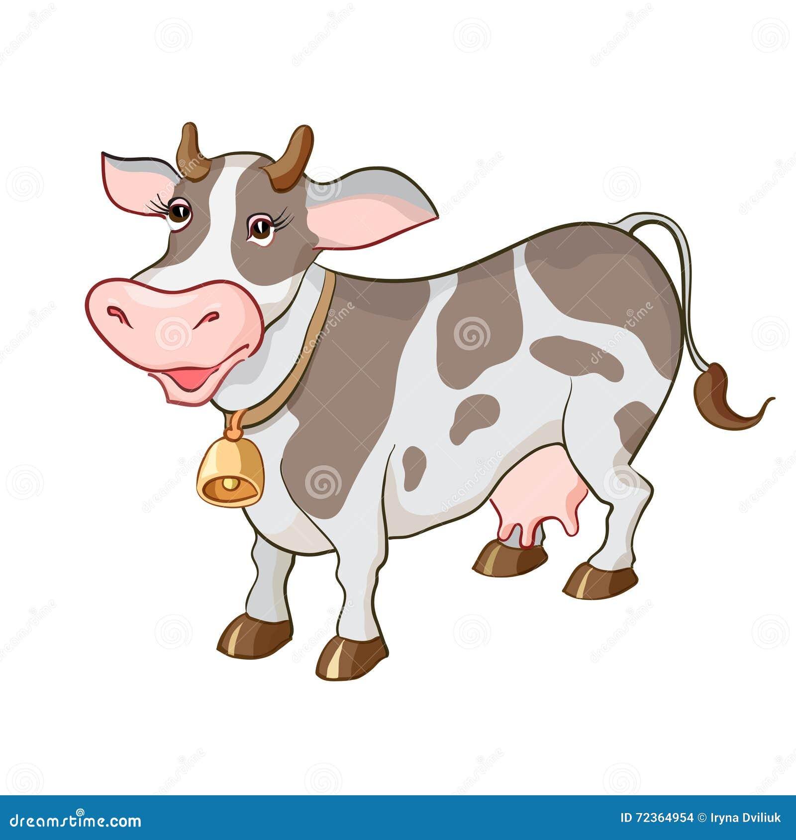 愉快的动画片母牛