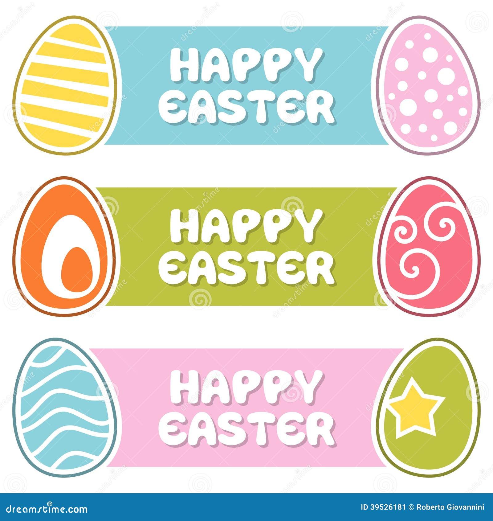愉快的复活节横幅用减速火箭的鸡蛋