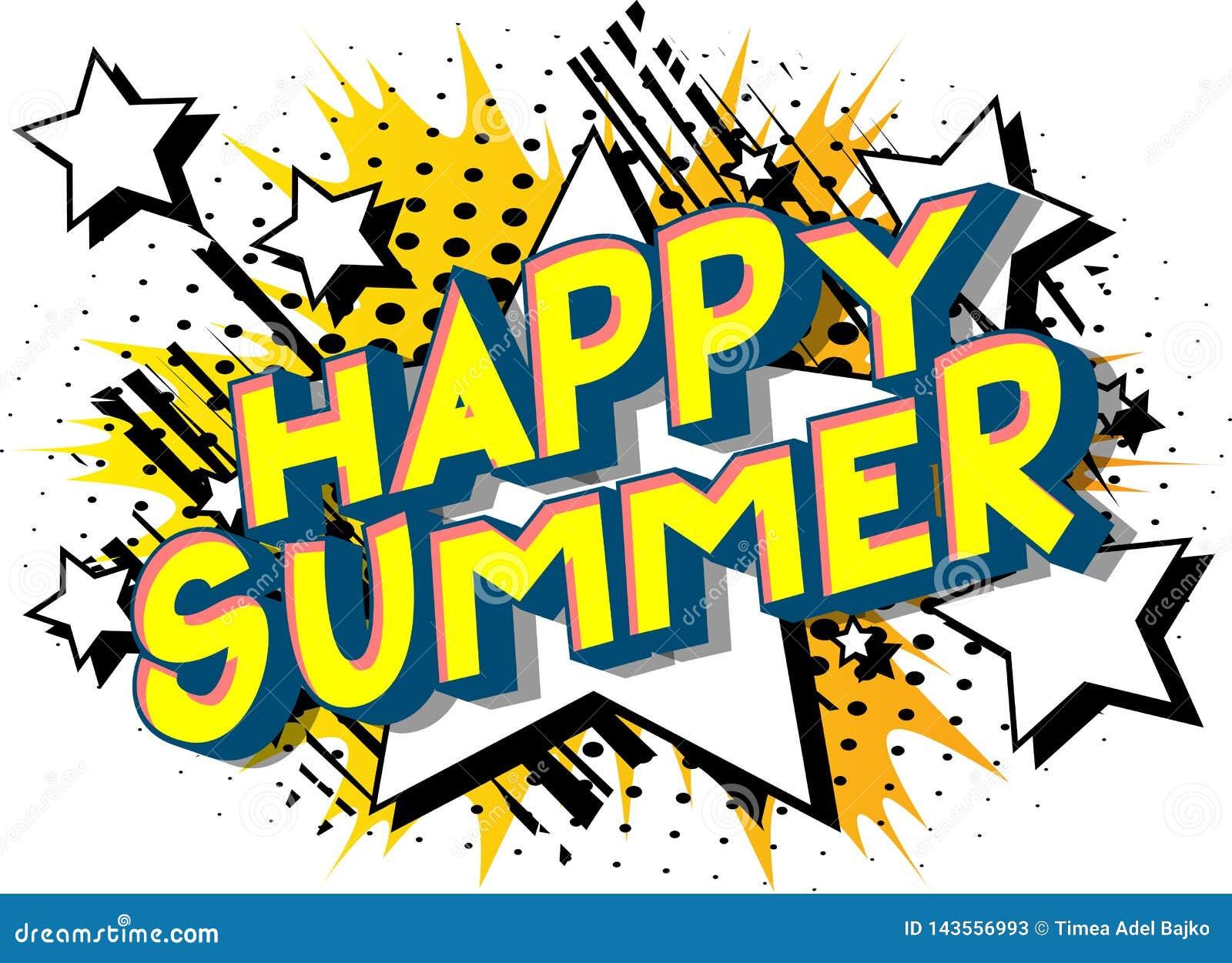 愉快的夏天-漫画样式词