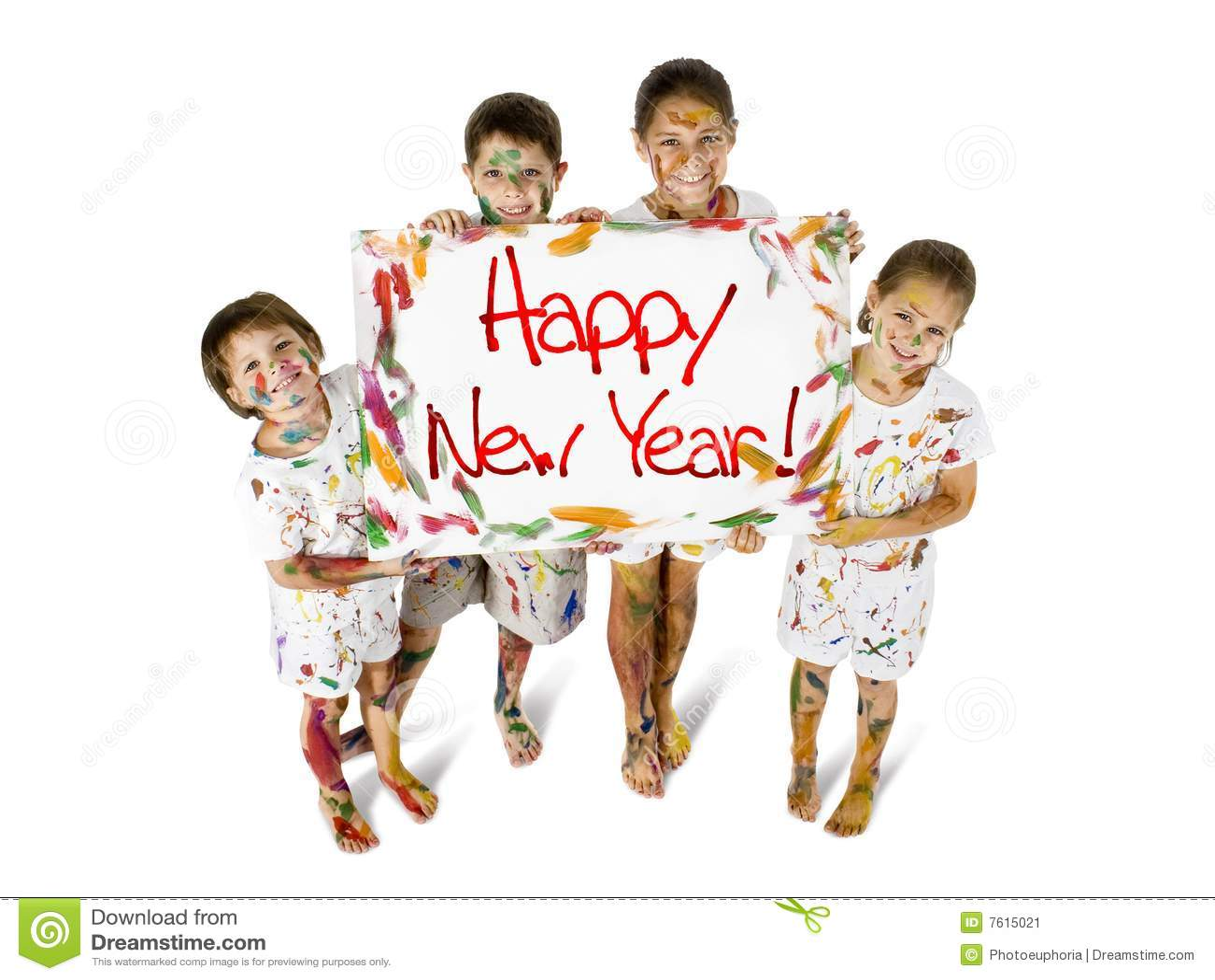 愉快的孩子新年度
