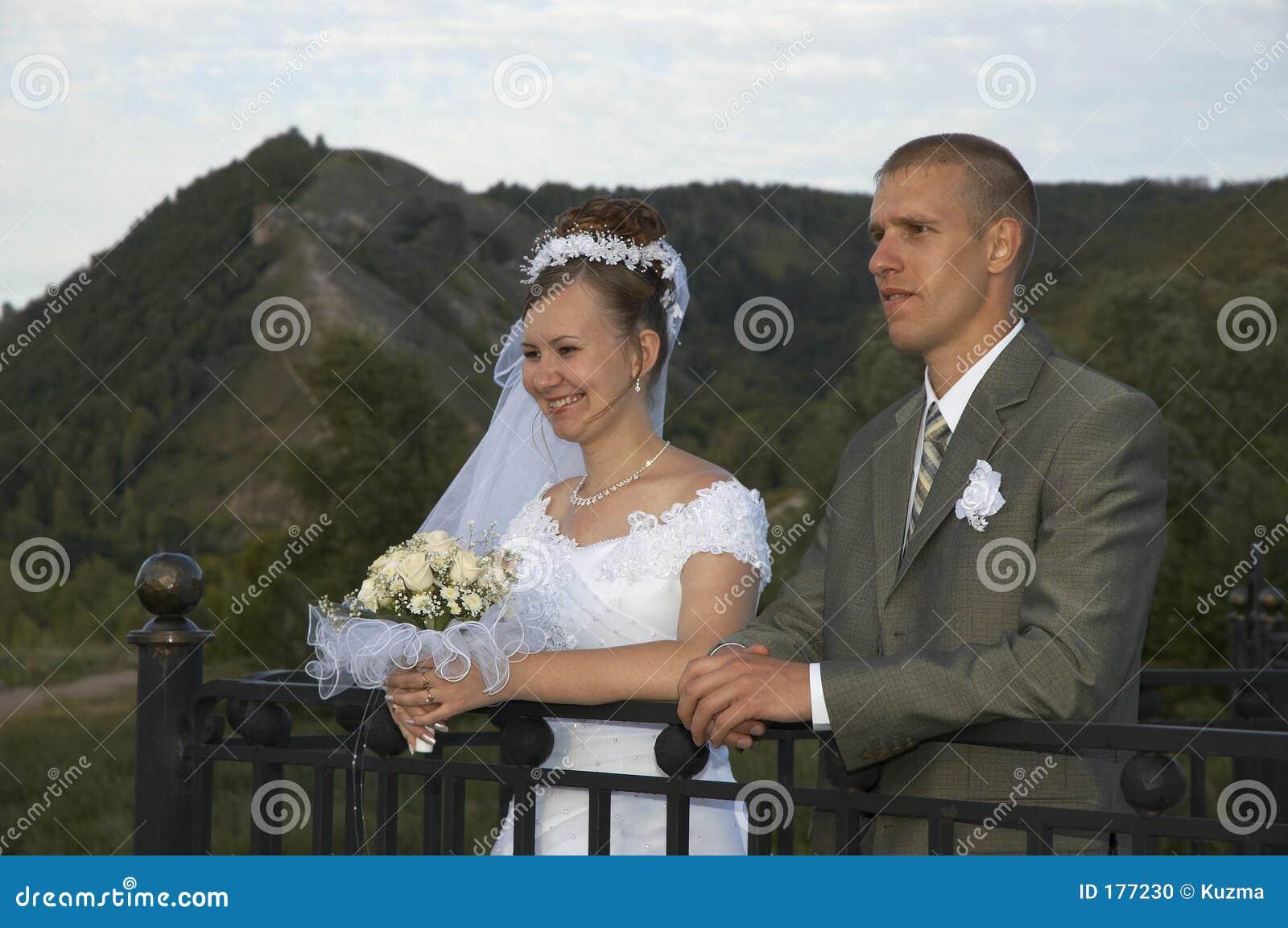 愉快的微笑婚礼