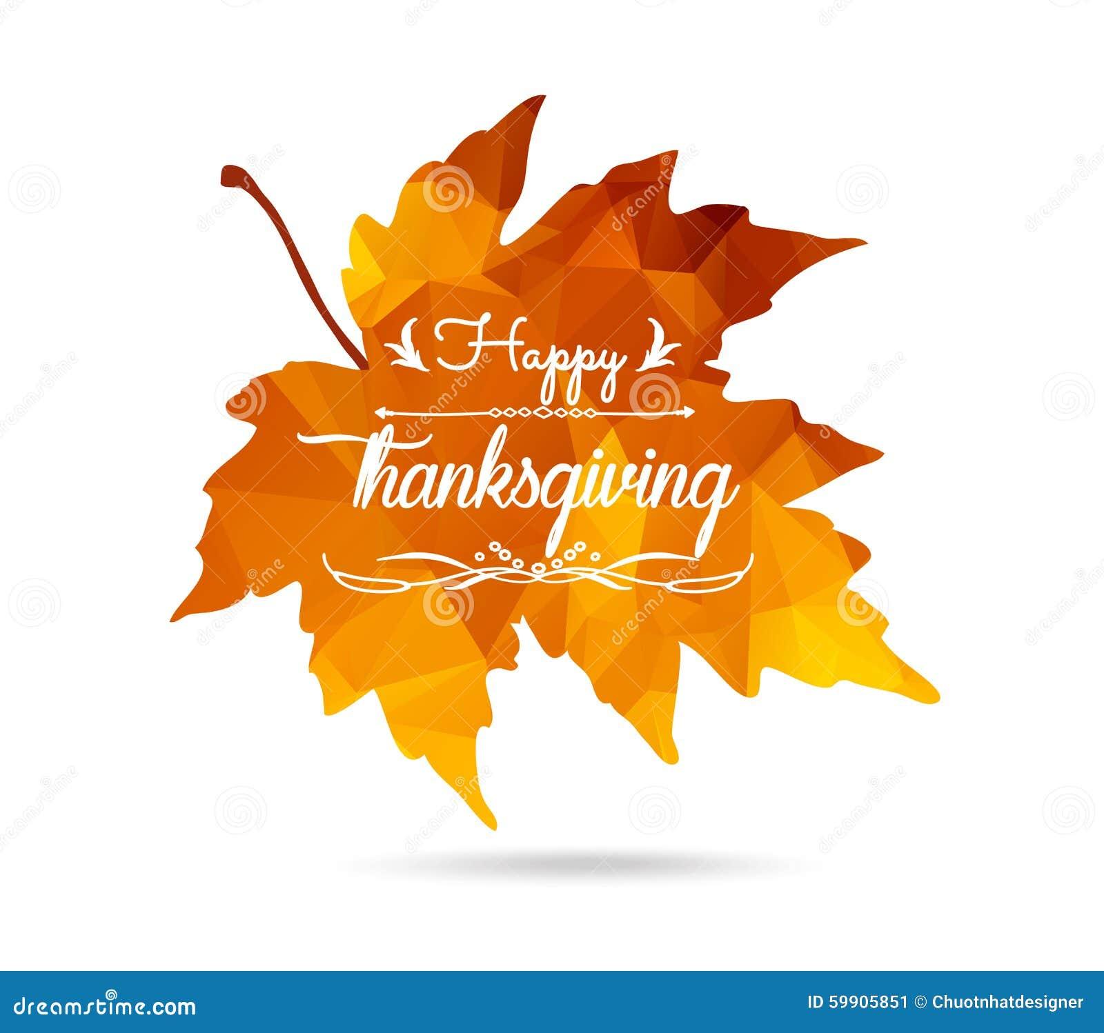 愉快的感恩 在三角样式的枫叶与被投下的阴影