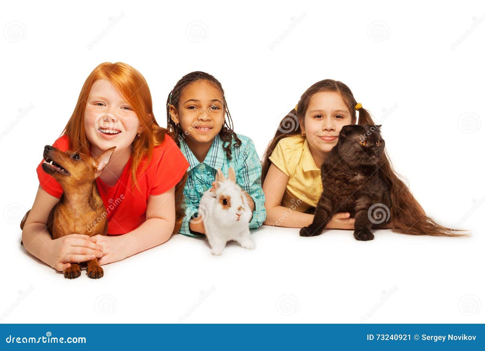 愉快的朋友和他们的宠物
