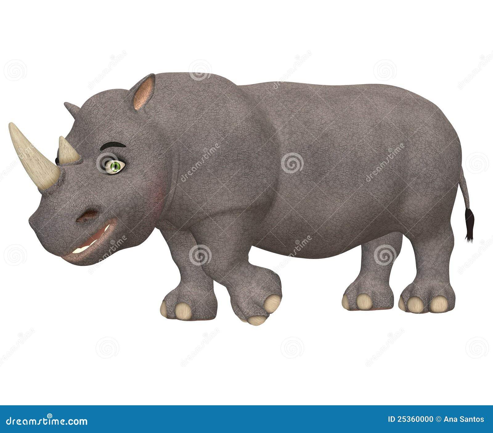 愉快的犀牛
