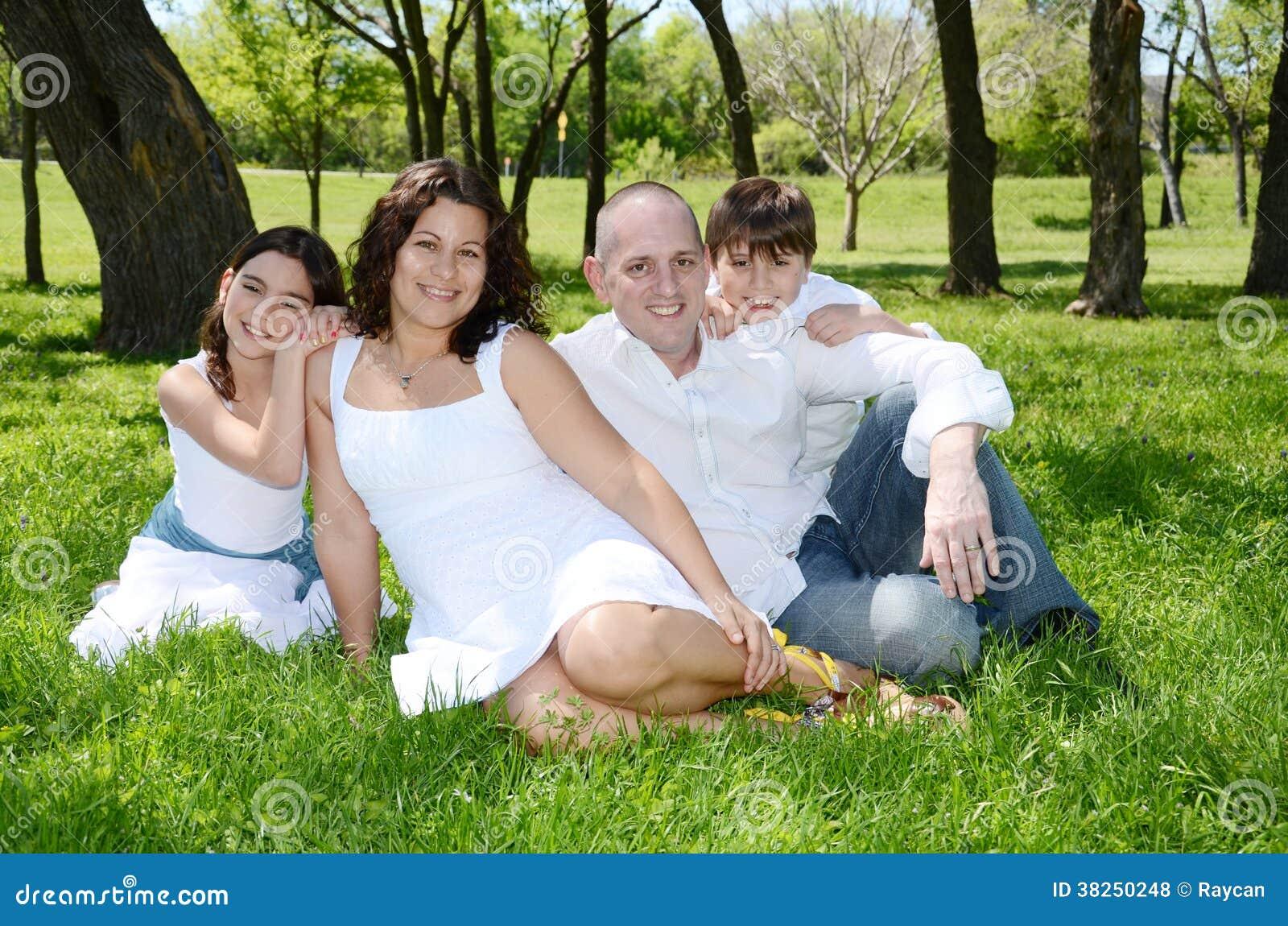 愉快的美国Venenuelan家庭