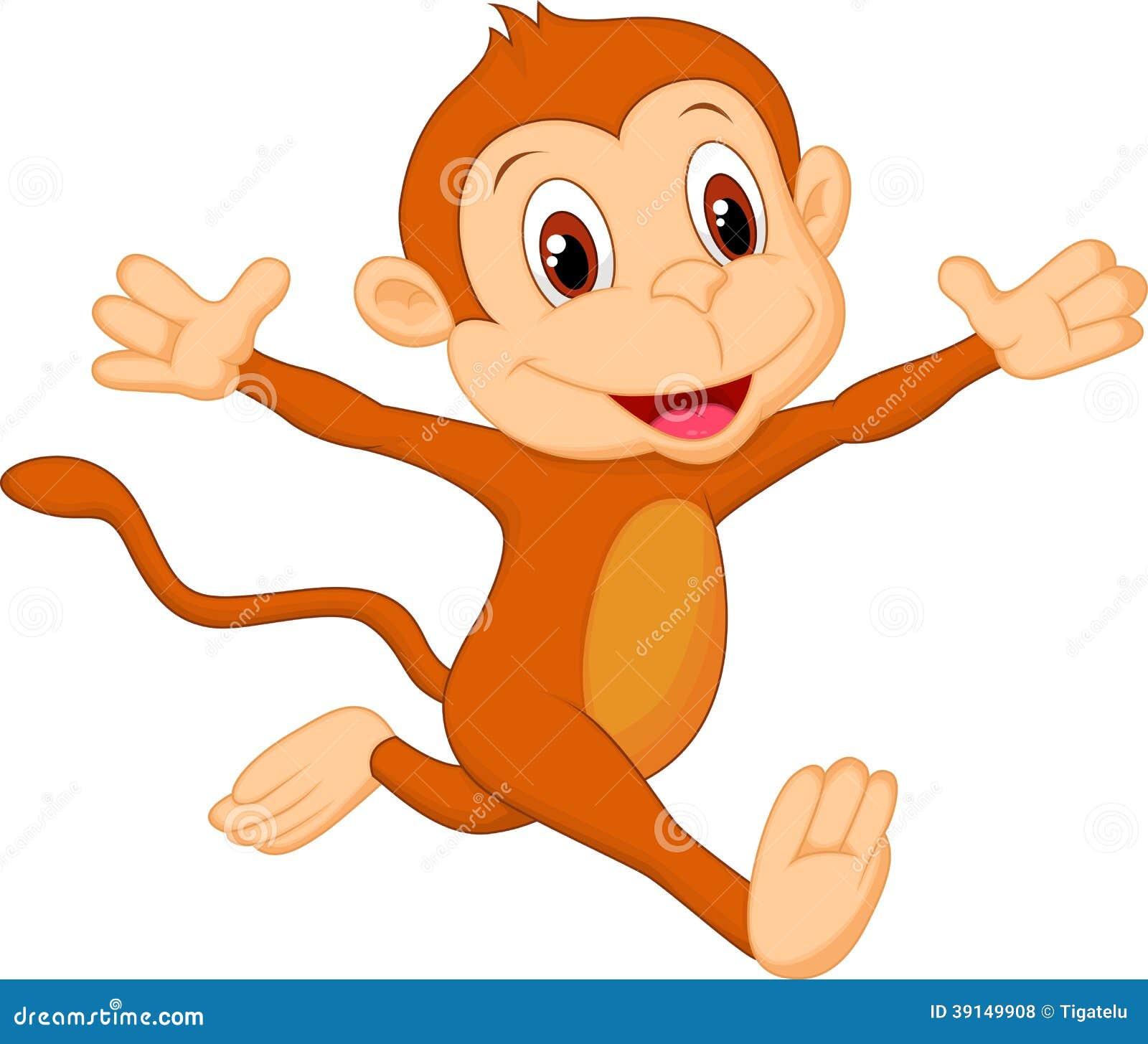 愉快的猴子动画片的例证.图片
