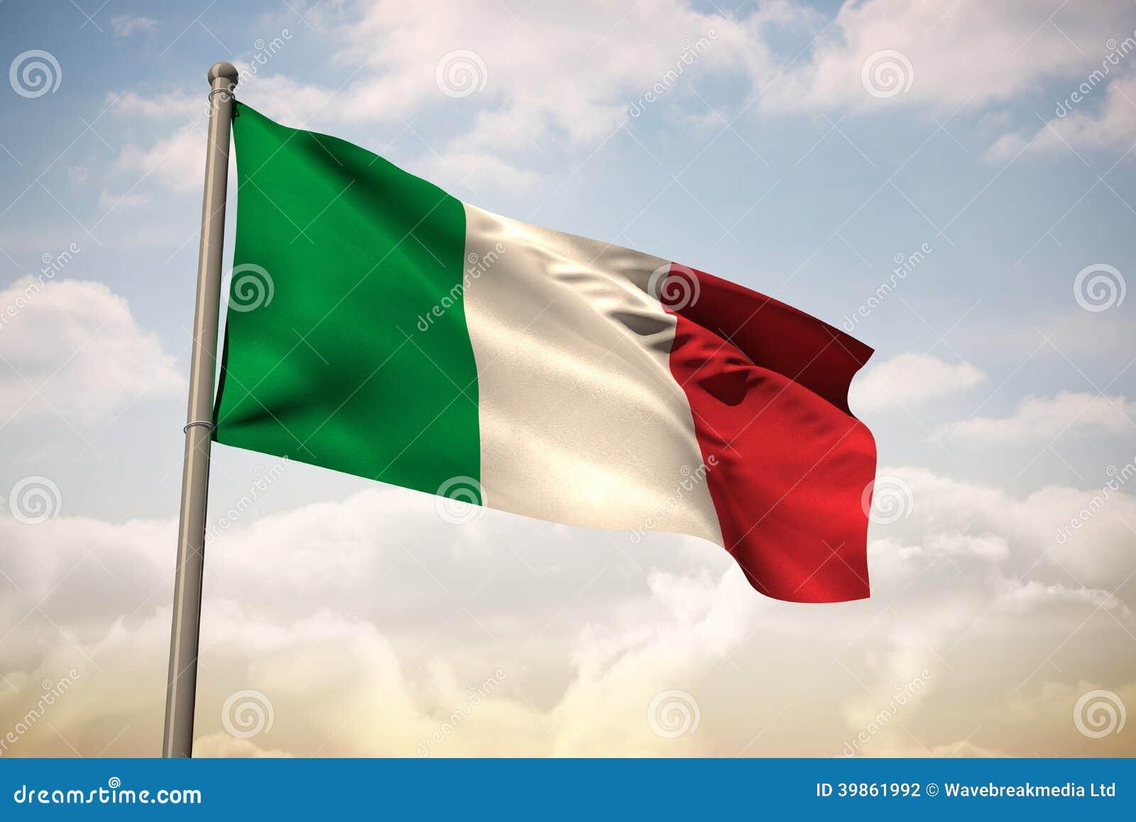 意大利国旗的综合图象 库存例证 - 图片: 39861992