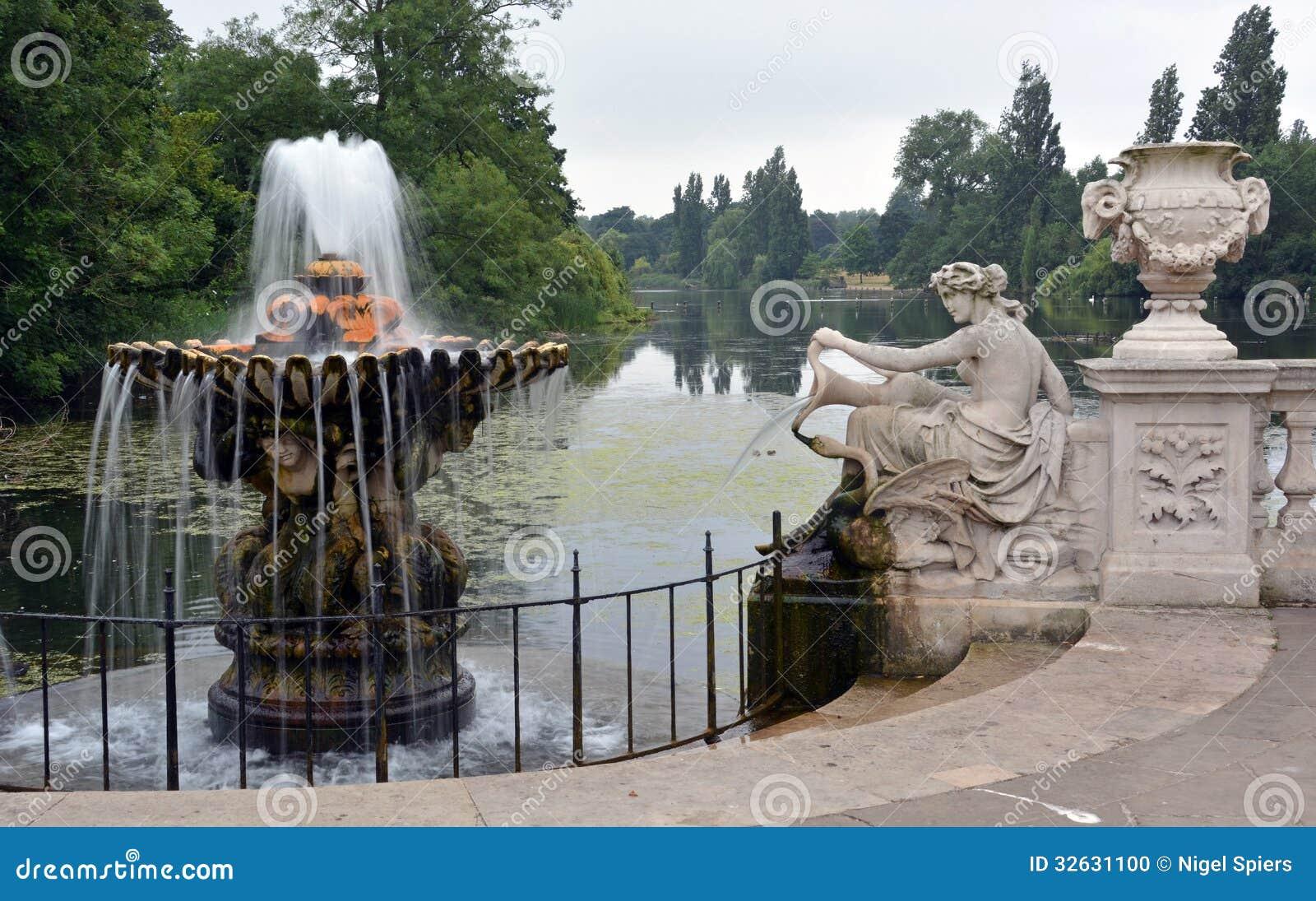 意大利庭院&蛇纹石,海德公园,伦敦