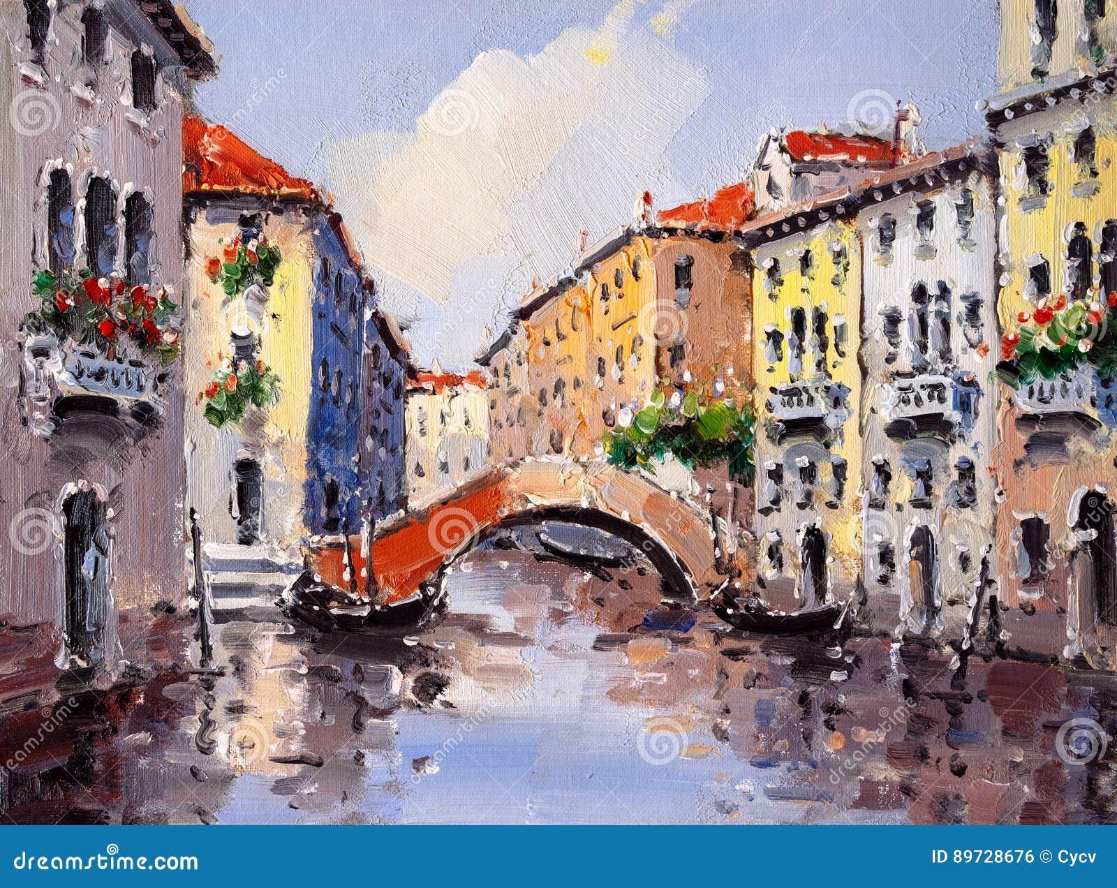 意大利油画威尼斯