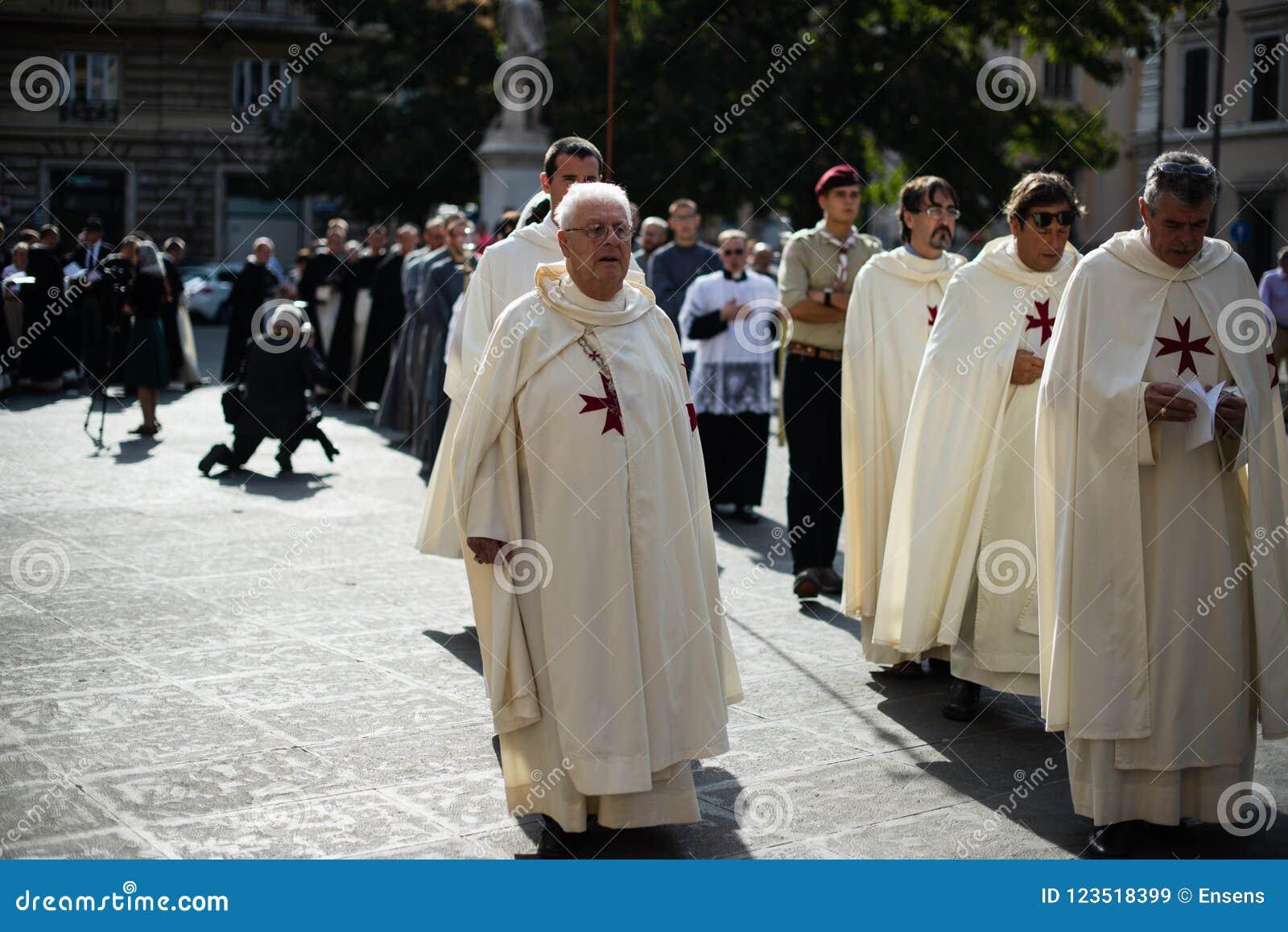 意大利罗马- 2017年9月7日-朝圣的庆祝