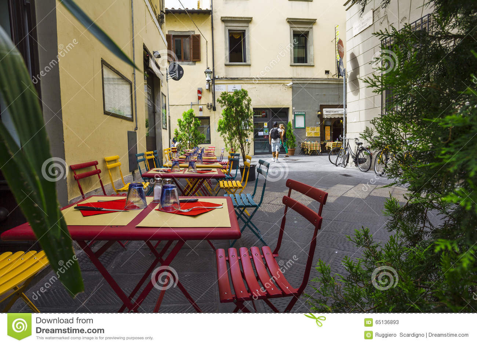 意大利餐馆、比萨店和trattoria,佛罗伦萨 托斯卡纳