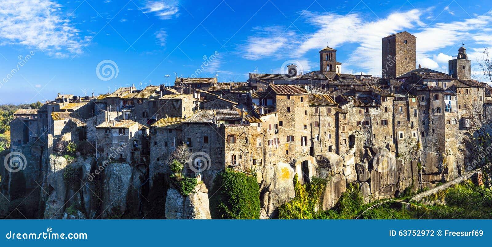 意大利-vitochianobeauiful中世纪村庄.岩石,公寓.金桥福运横向图片