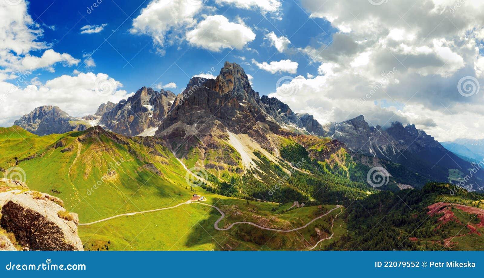 意大利Dolomiti -好的全景