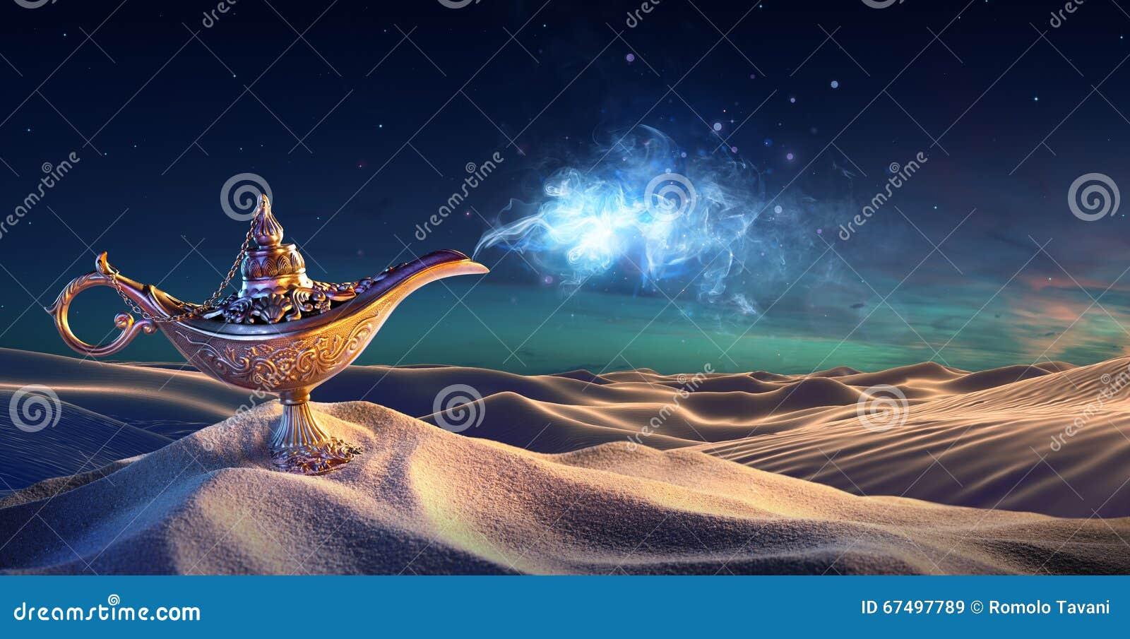 愿望灯在沙漠-出来的灵魔