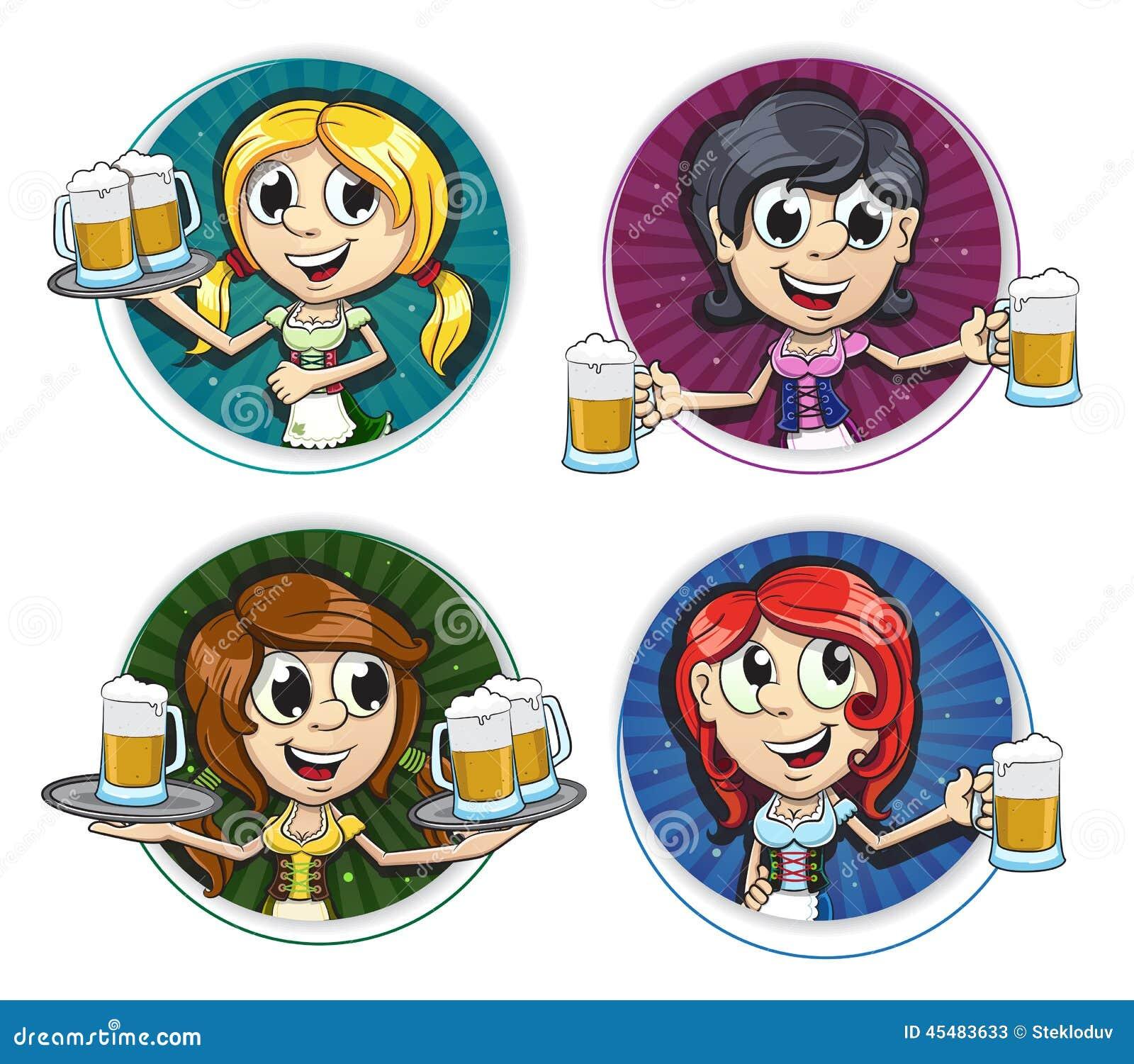 慕尼黑啤酒节女孩