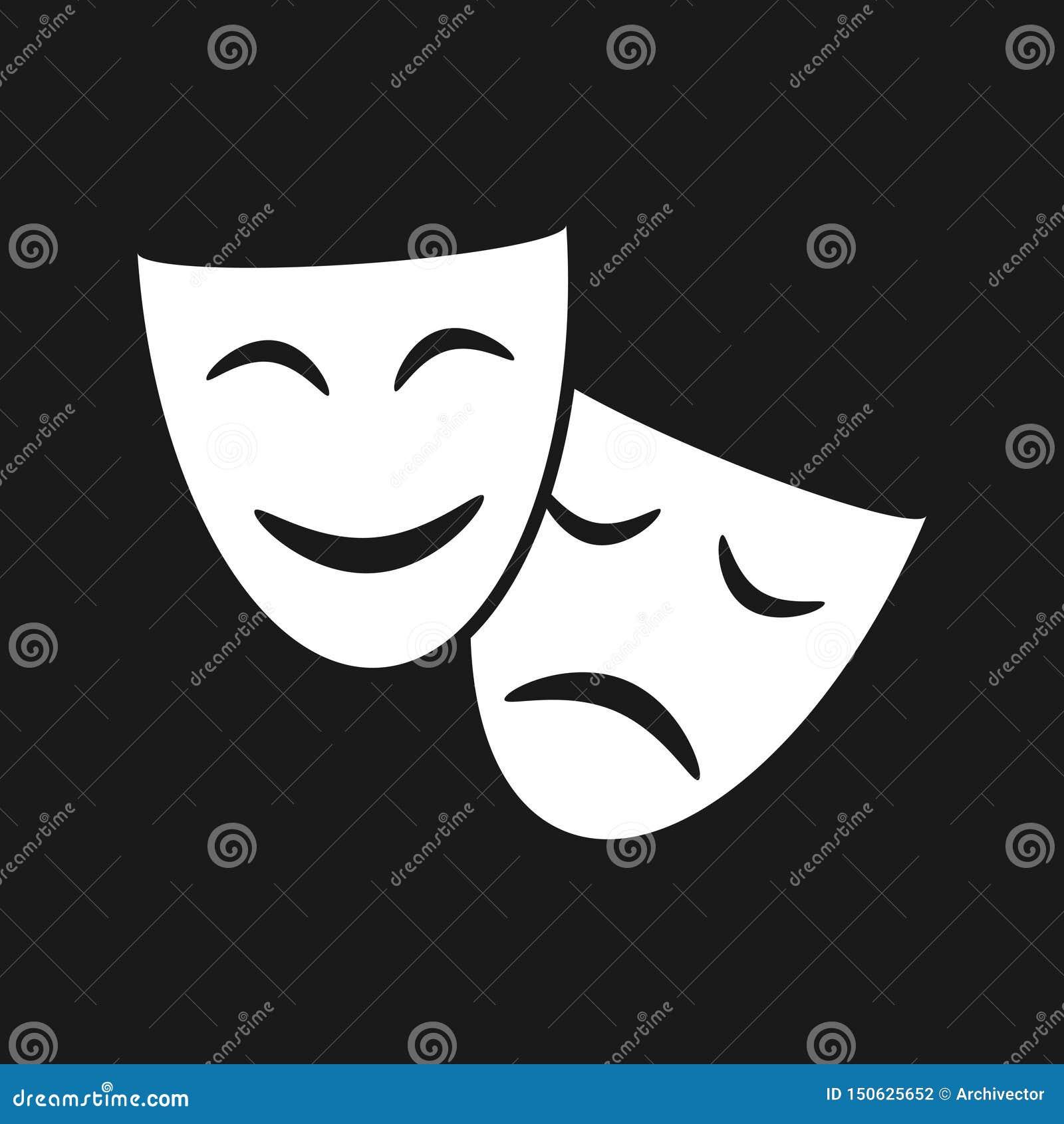 戏剧性面具图表象