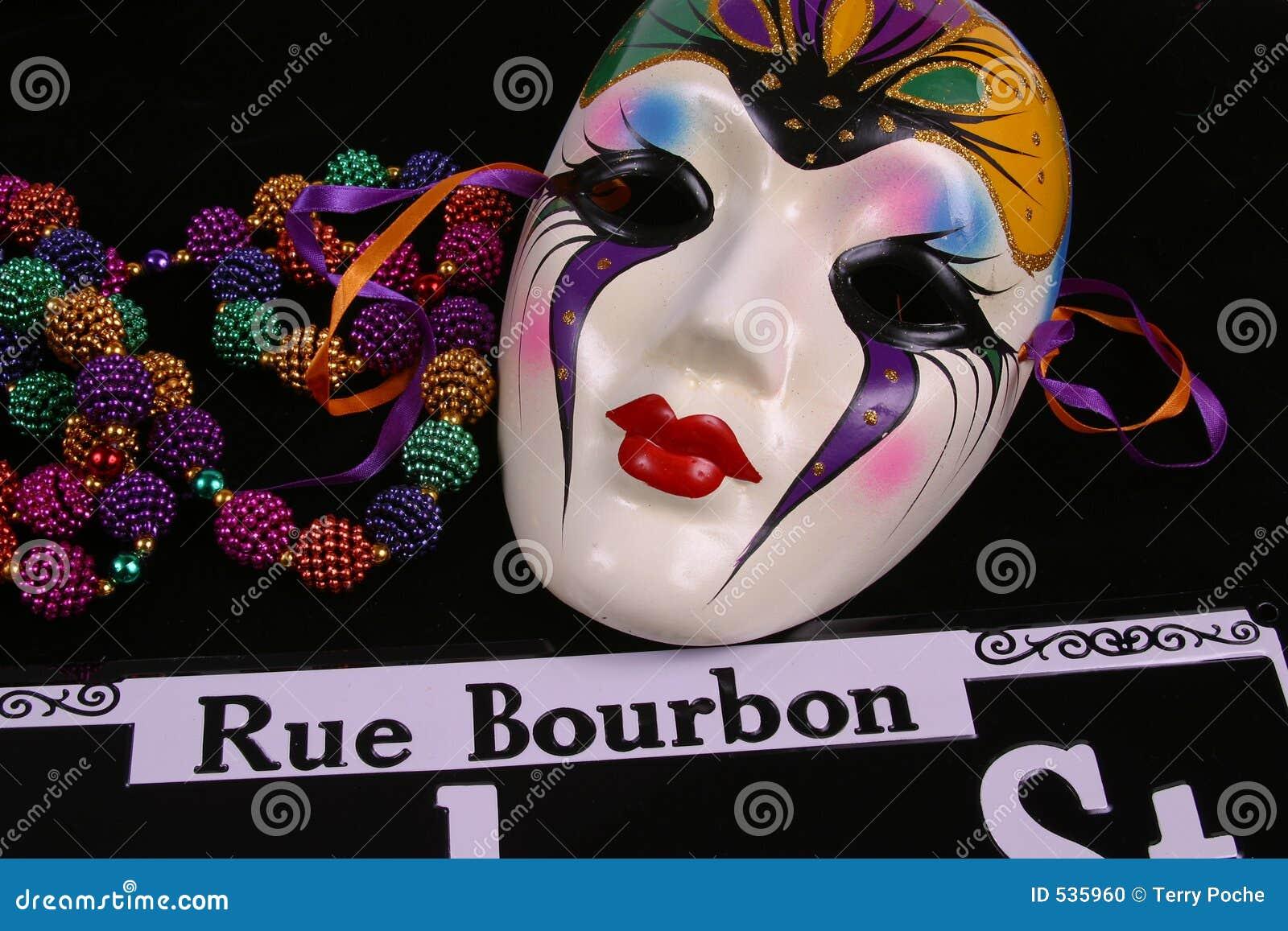 Download 成串珠状波旁酒屏蔽云香 库存照片. 图片 包括有 奥尔良, 隐藏, 节日, 街道, 紫色, 颜色, 星期二, 服装 - 535960